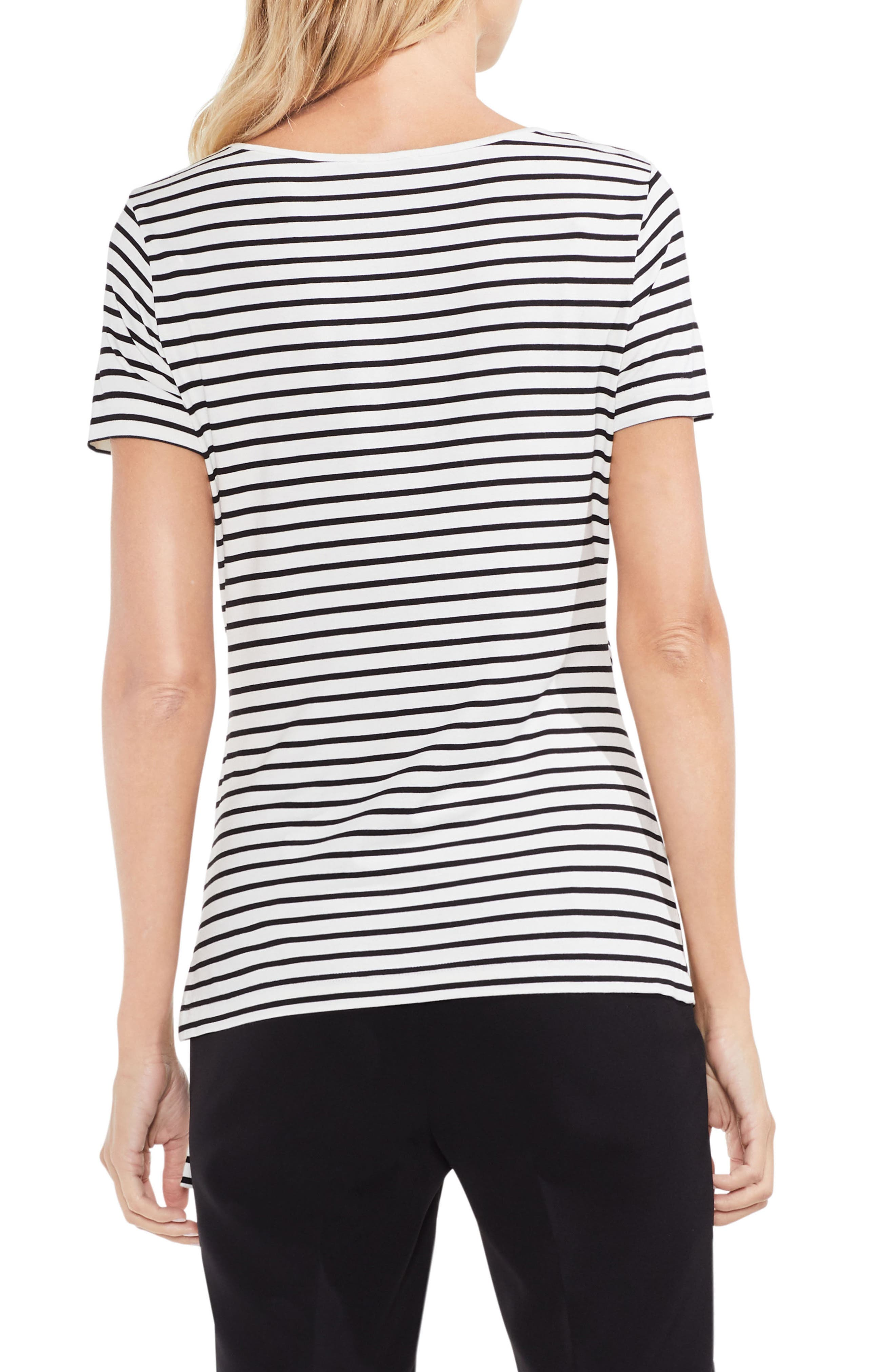 Faux Wrap Stripe Tee,                             Alternate thumbnail 2, color,                             103