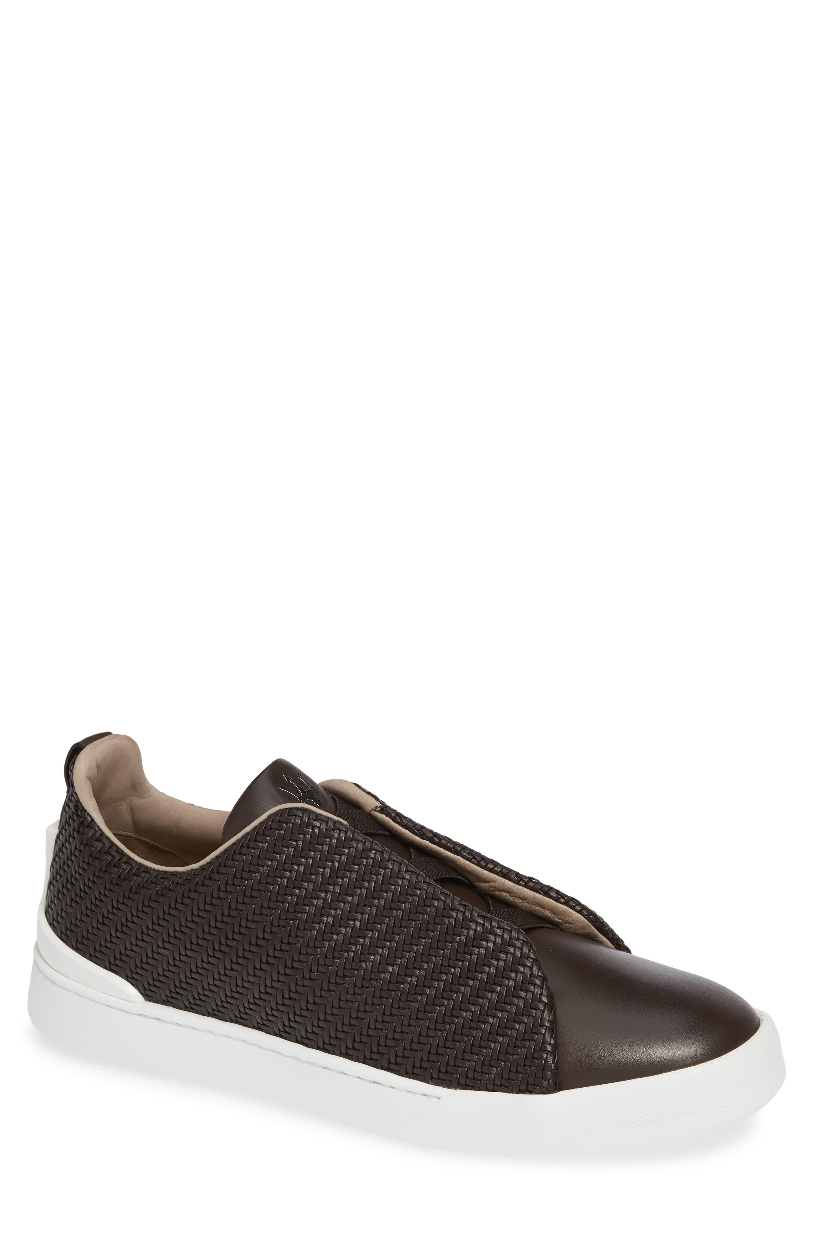 Slip-On Sneaker,                         Main,                         color, DARK BROWN