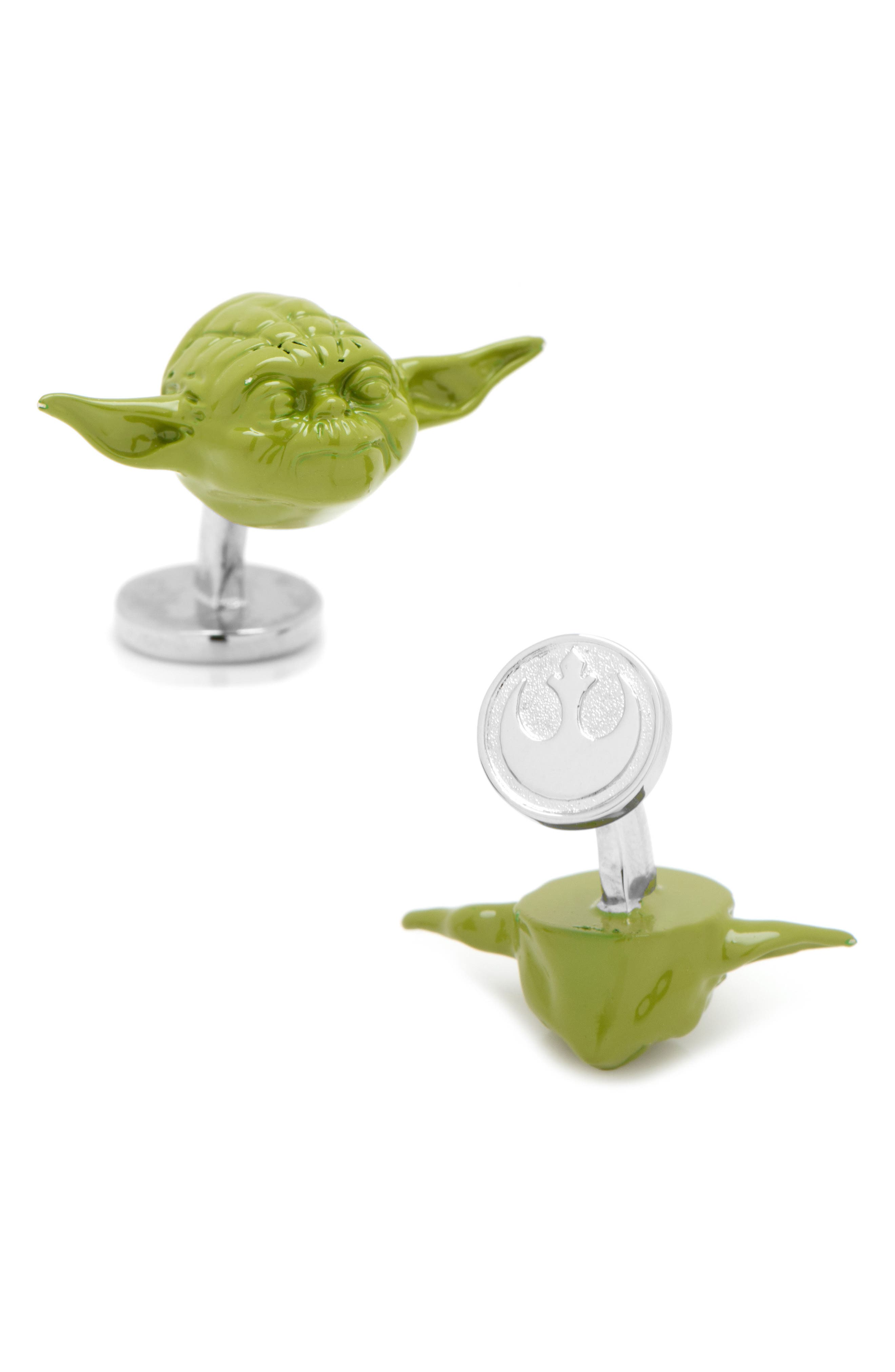 Star Wars<sup>™</sup> Yoda 3D Cuff Links,                             Main thumbnail 1, color,                             300
