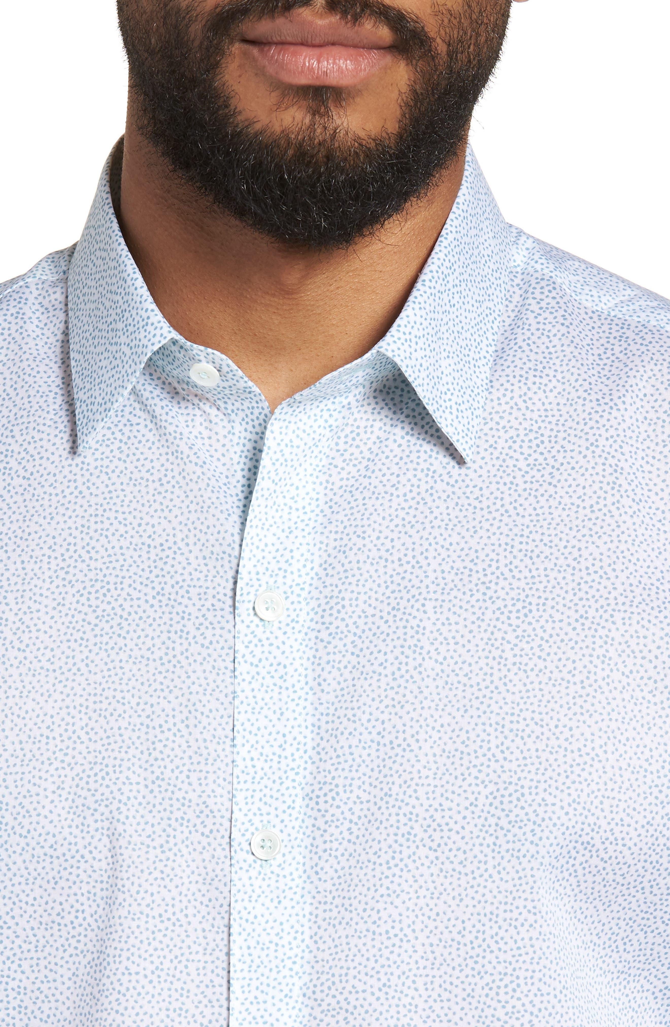 Fung Regular Fit Sport Shirt,                             Alternate thumbnail 4, color,                             WHITE