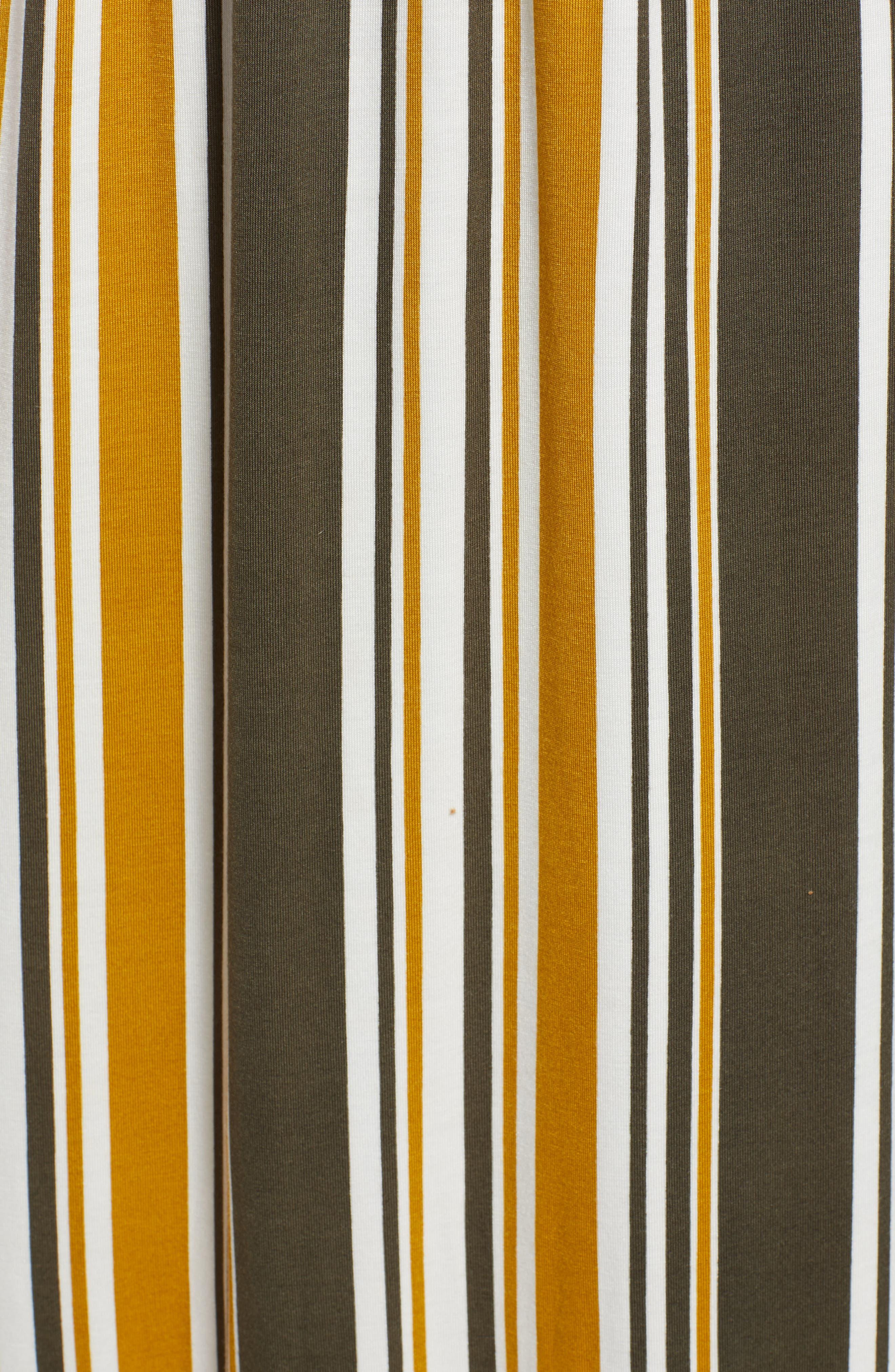 Knit Maxi Dress,                             Alternate thumbnail 5, color,                             ARMY GREEN/ MUSTARD
