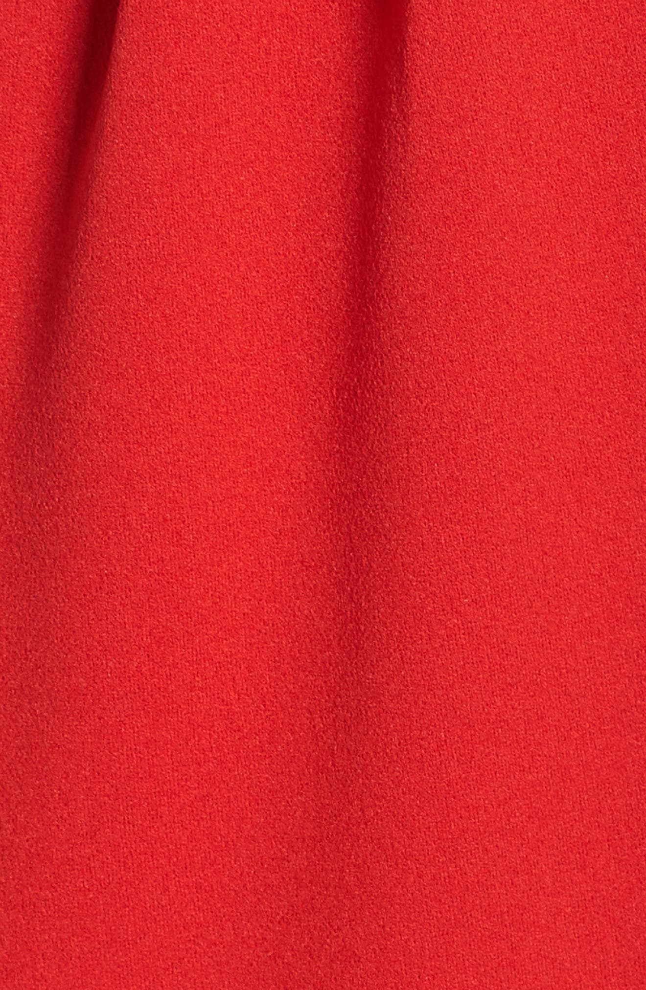 High/Low Slipdress,                             Alternate thumbnail 5, color,                             RED