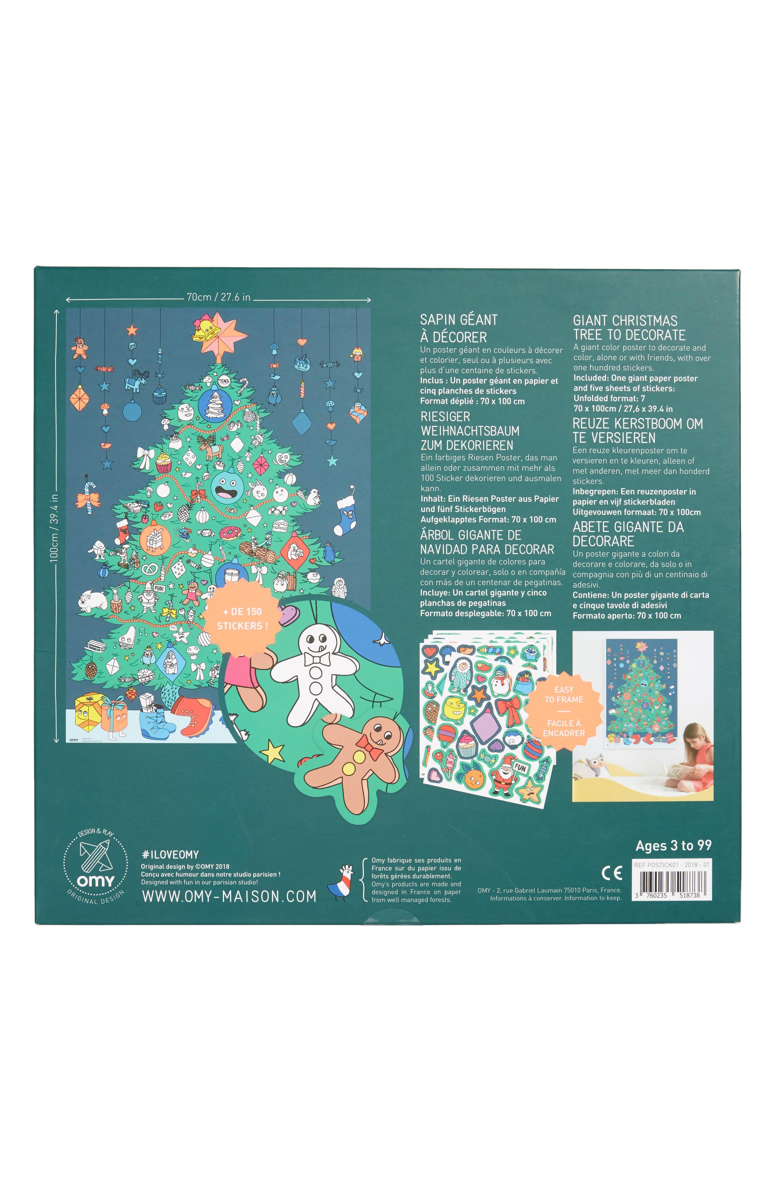 Christmas Tree Sticker Poster Set,                             Alternate thumbnail 2, color,                             300