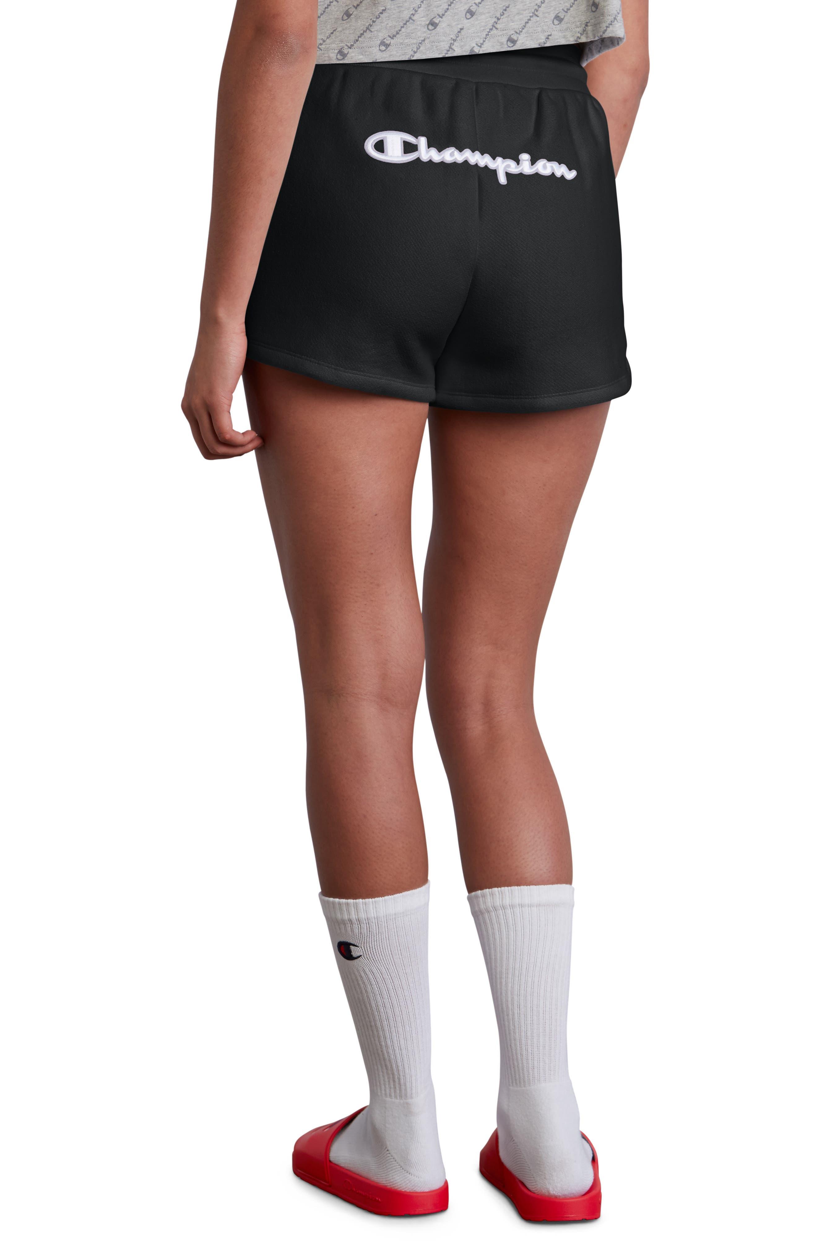 Reverse Weave Shorts,                             Alternate thumbnail 2, color,                             BLACK
