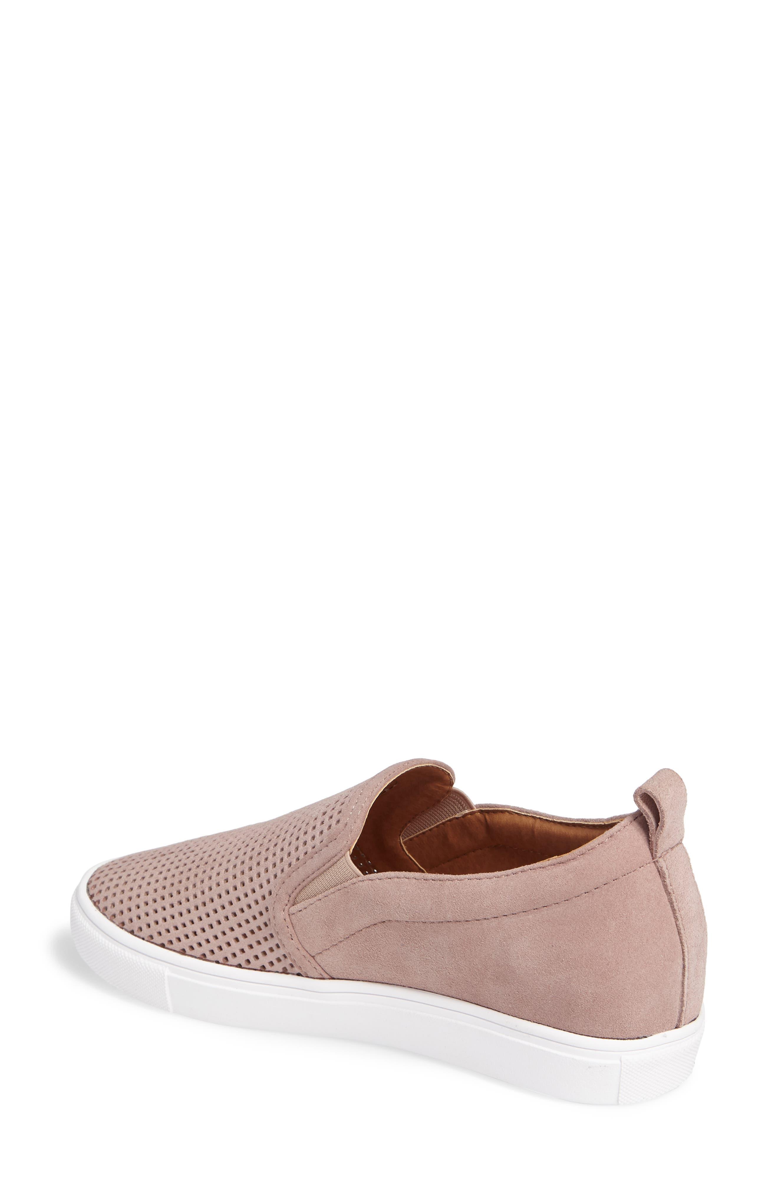 Eden Perforated Slip-On Sneaker,                             Alternate thumbnail 8, color,
