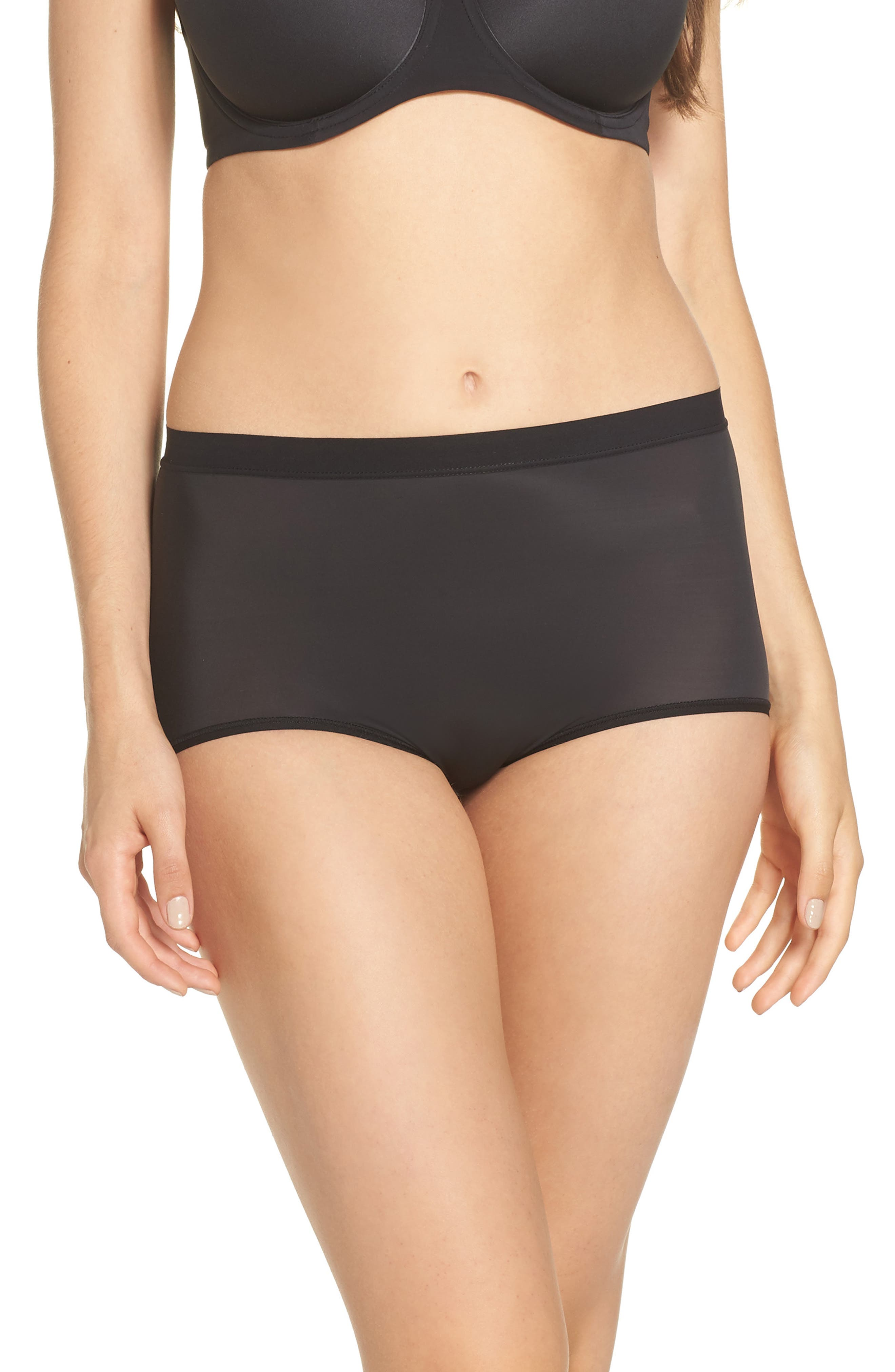 Flawless Comfort Briefs,                             Main thumbnail 1, color,                             BLACK