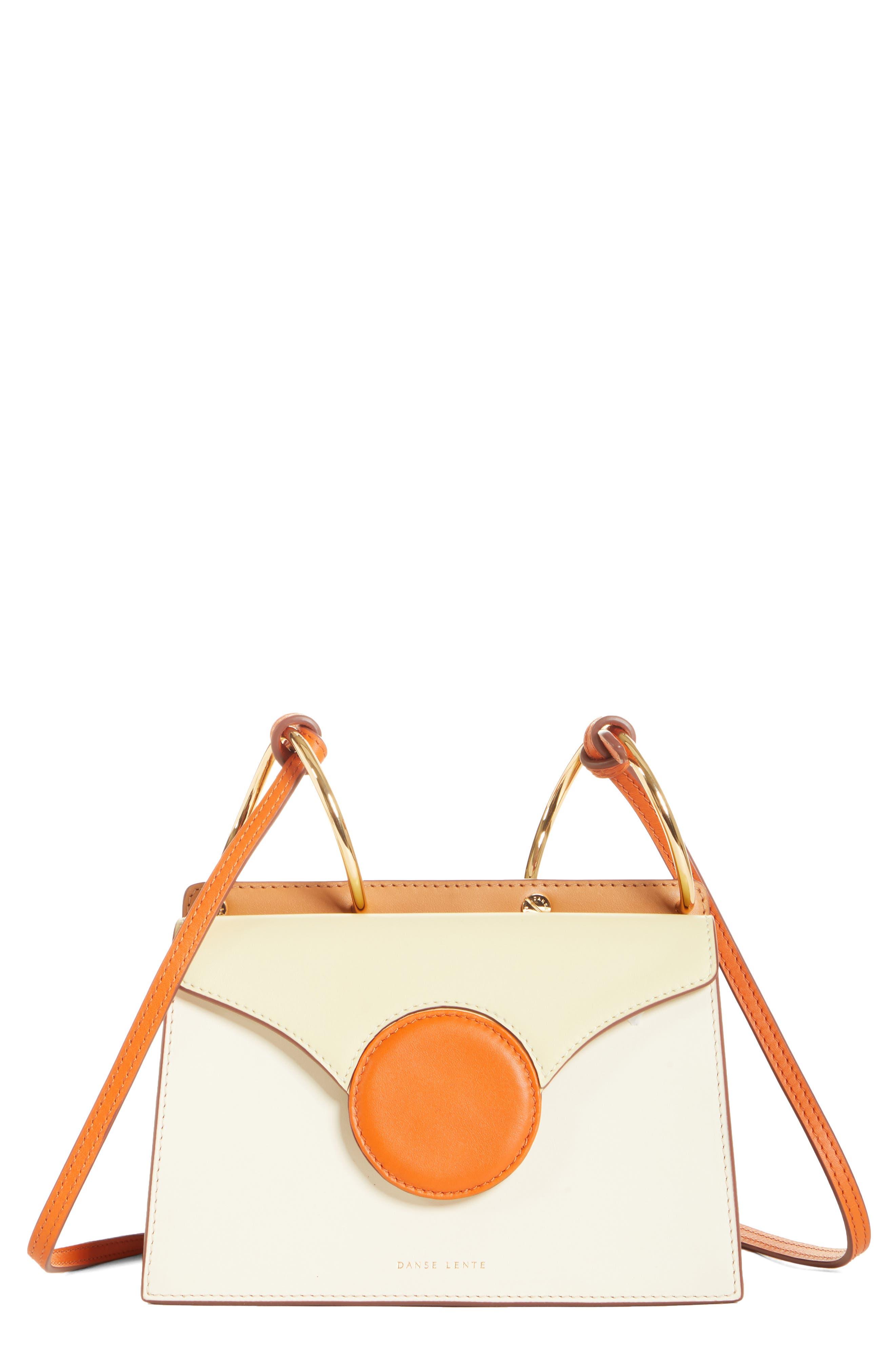 DANSE LENTE,                             Mini Phoebe Leather Bag,                             Main thumbnail 1, color,                             TOFFEE/ MARSHMALLOW