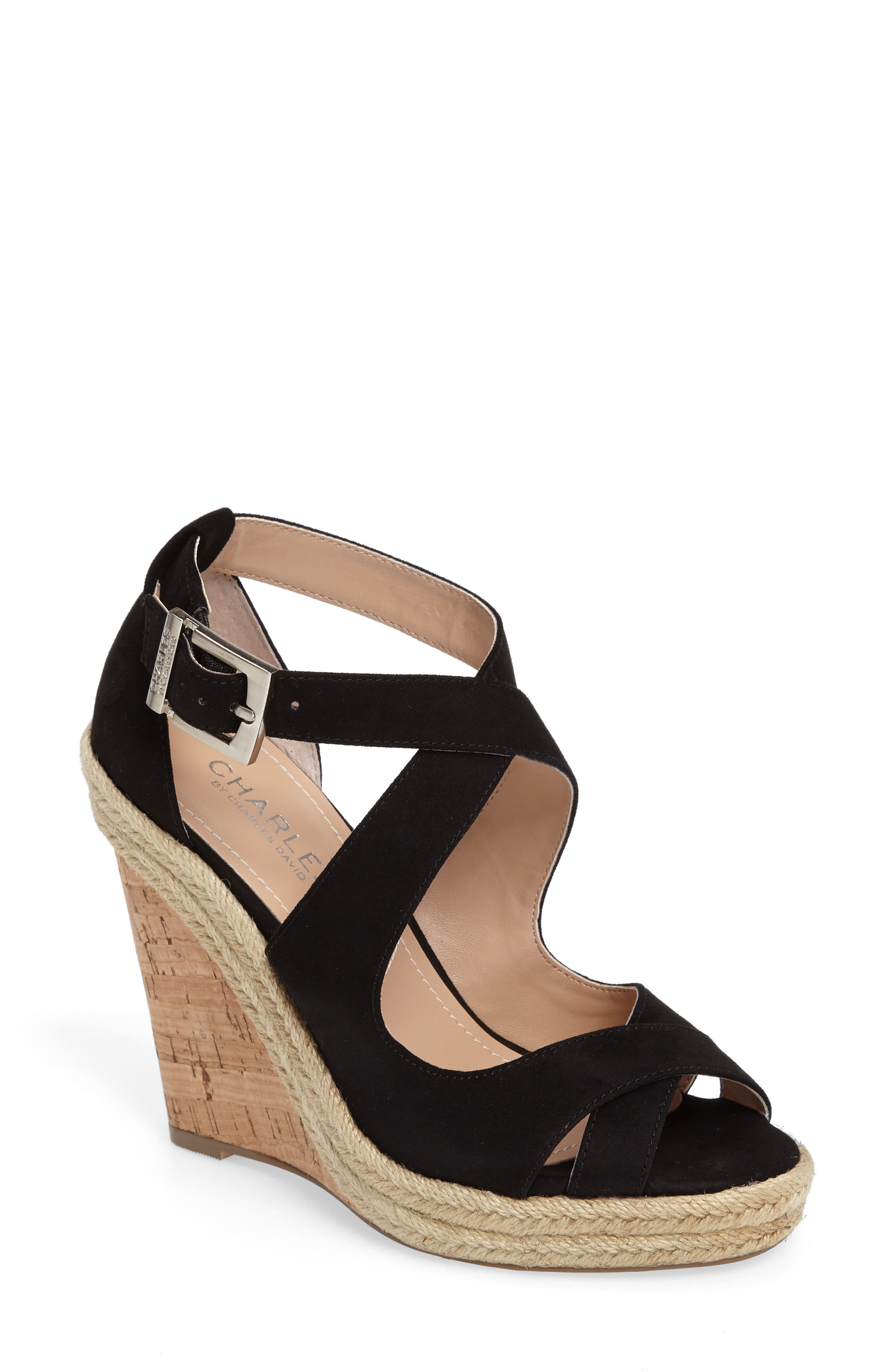Belfast Strappy Wedge Sandal,                             Main thumbnail 1, color,                             001