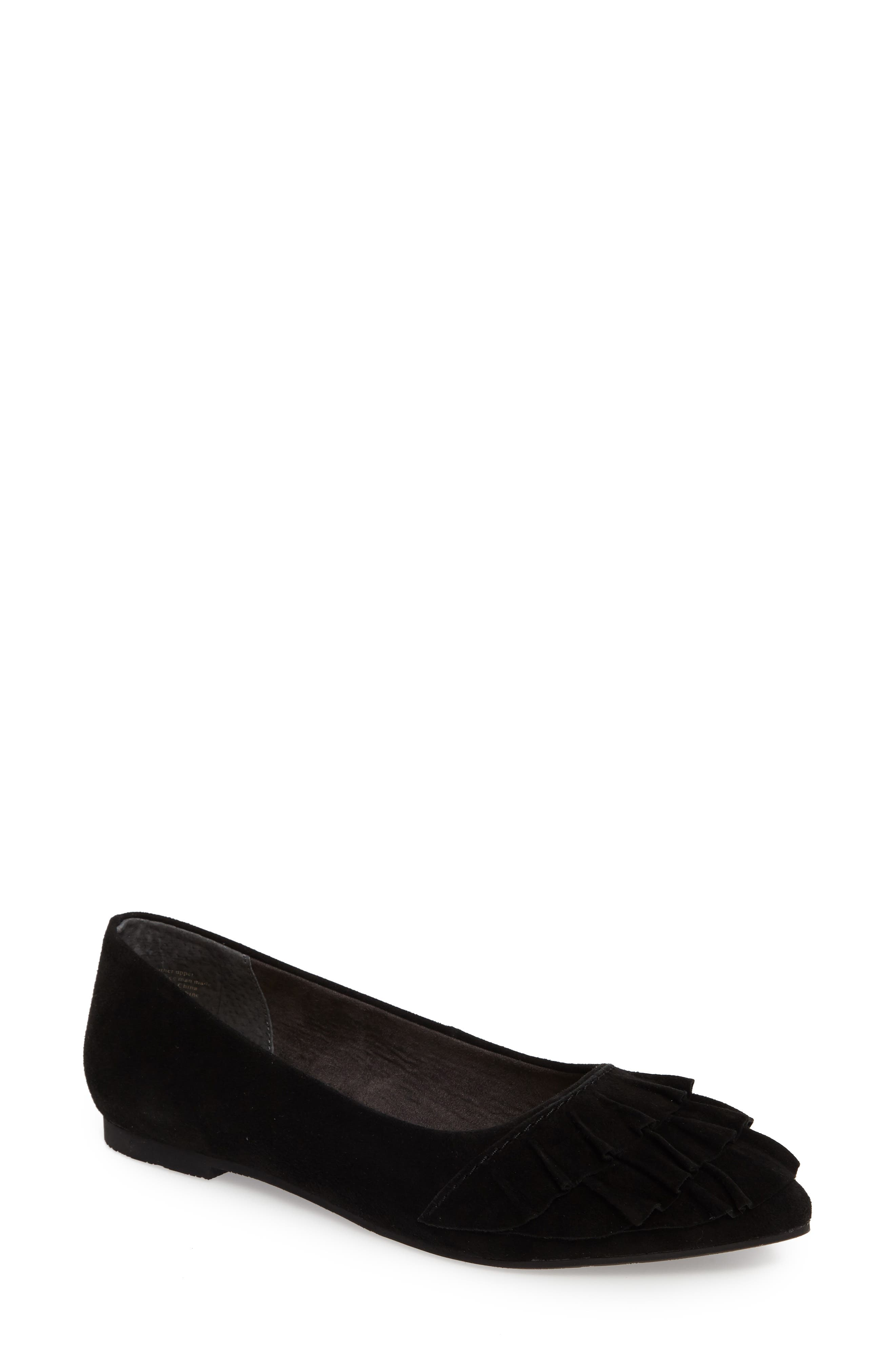 Downstage Pointy Toe Flat,                         Main,                         color,
