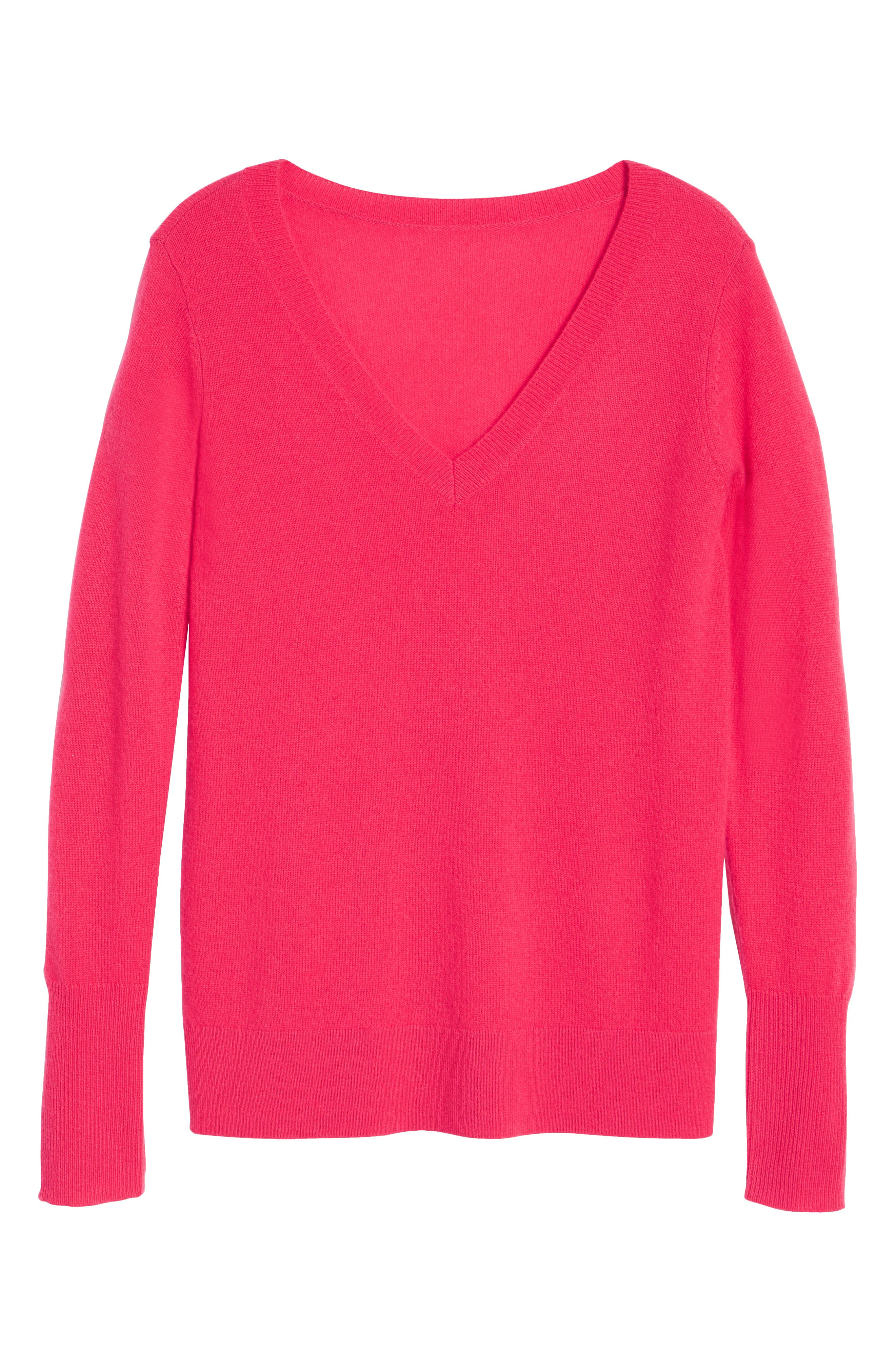 V-Neck Cashmere Sweater,                             Alternate thumbnail 94, color,