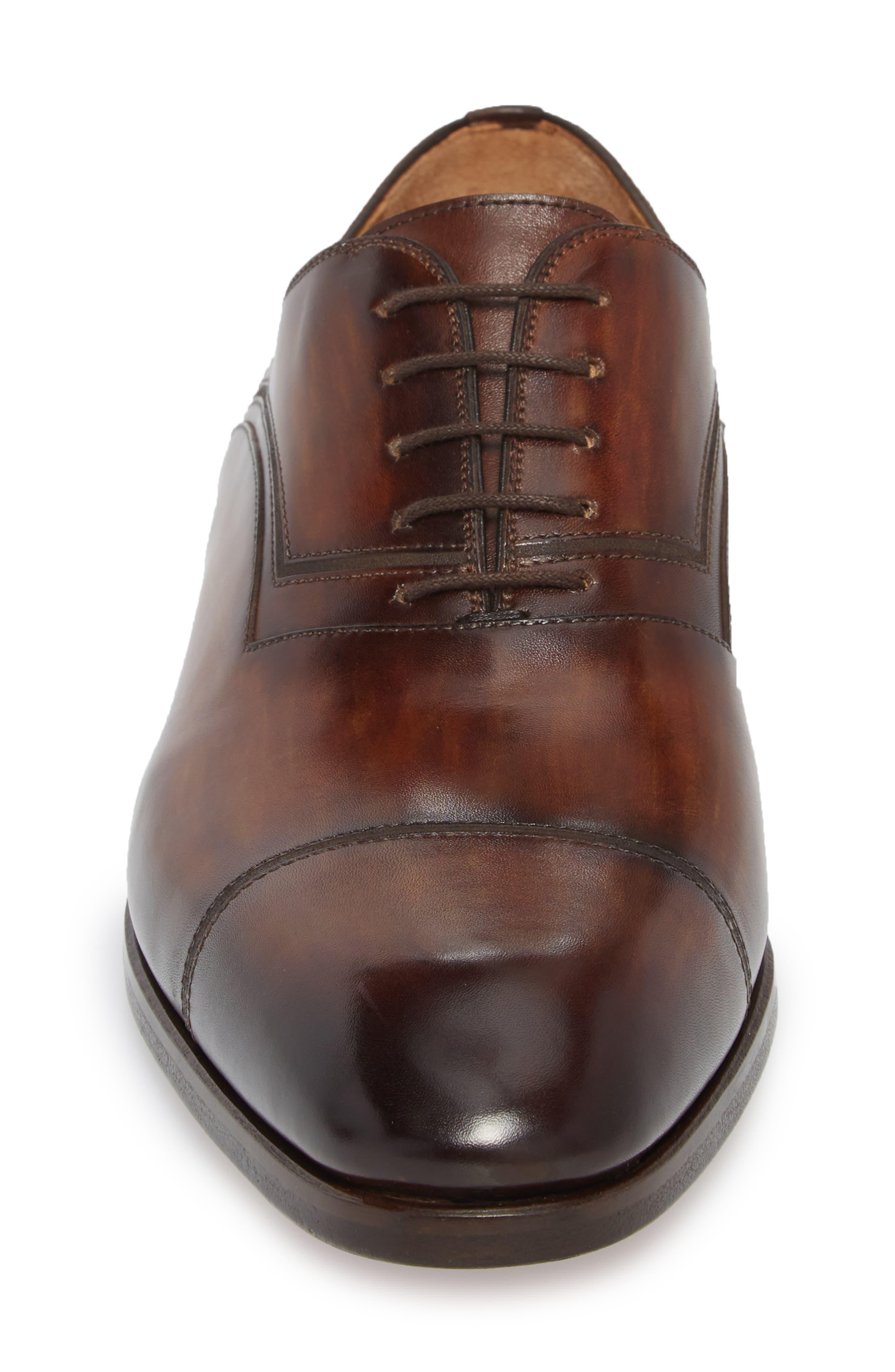 Cadiz Whole Cut Shoe,                             Alternate thumbnail 4, color,                             TOBACCO LEATHER