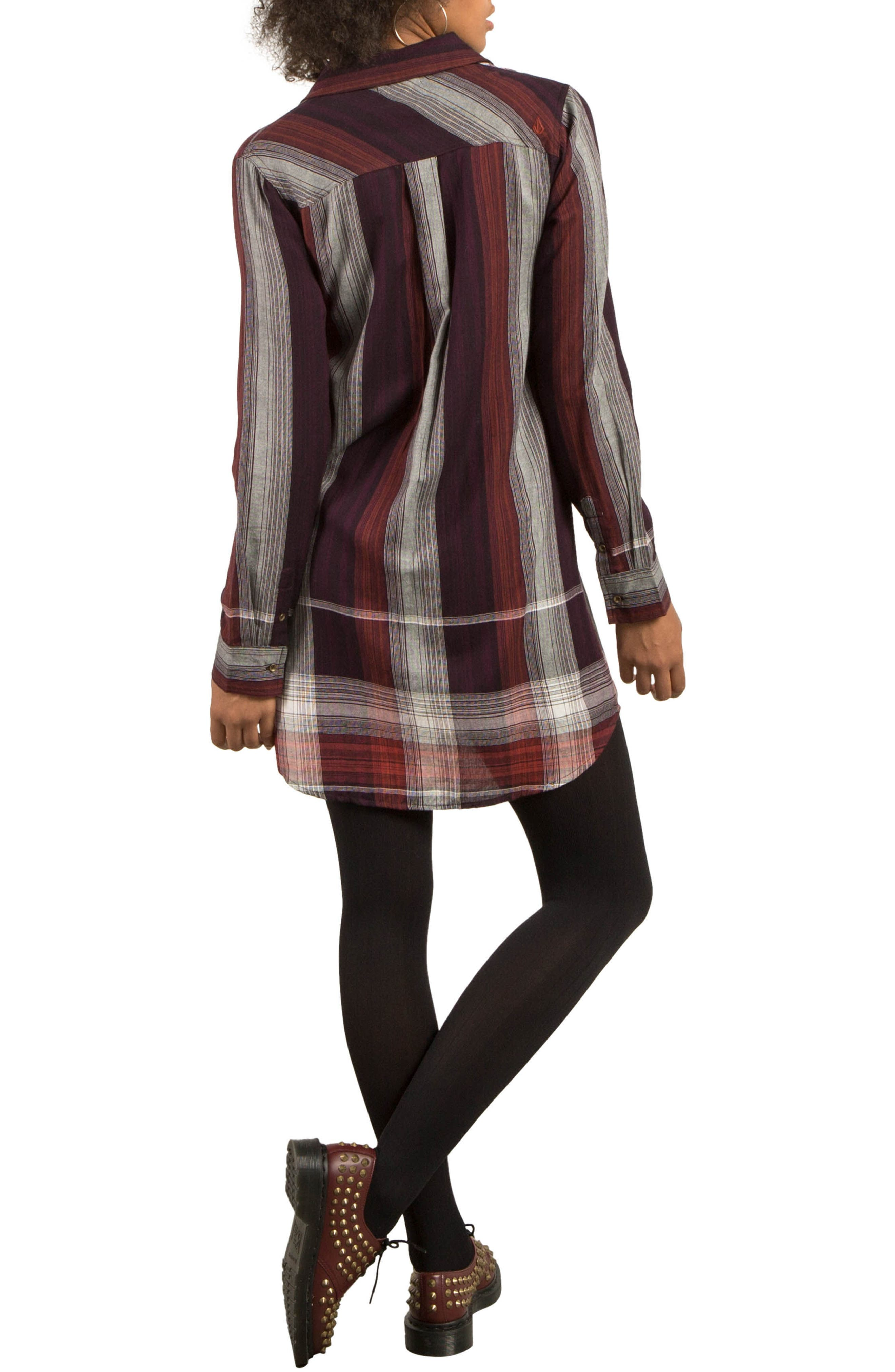 Well Plaid Shirtdress,                             Alternate thumbnail 2, color,                             930
