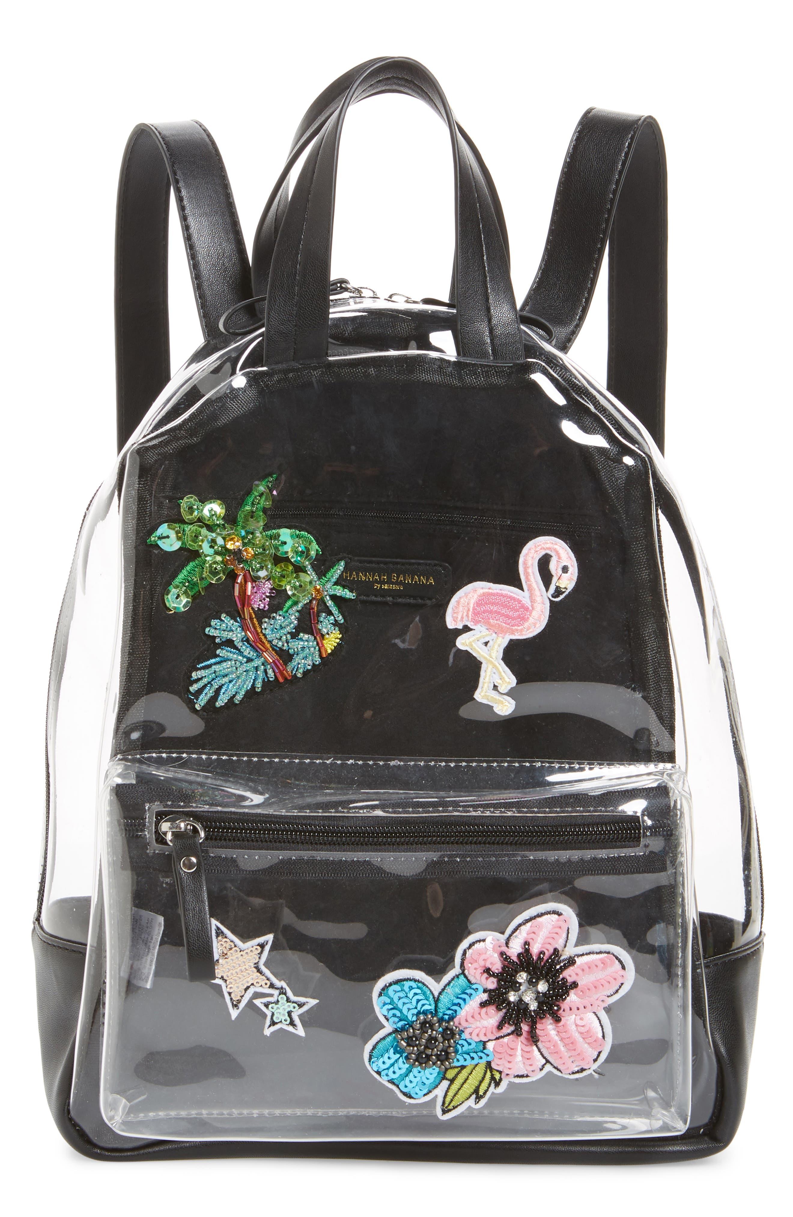 Clear Appliquéd Backpack,                         Main,                         color,