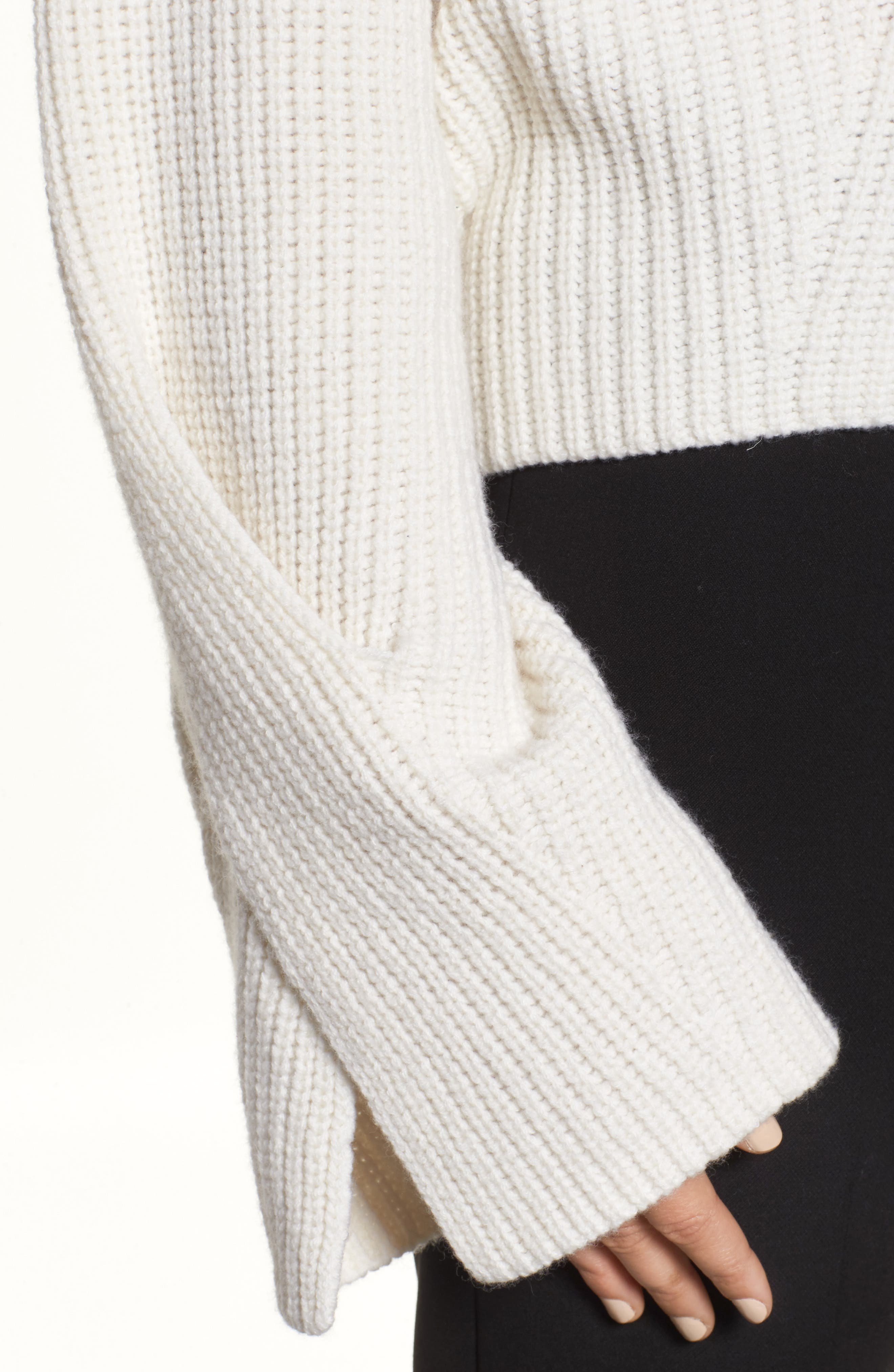 Fihra Wool Blend Sweater,                             Alternate thumbnail 4, color,                             252