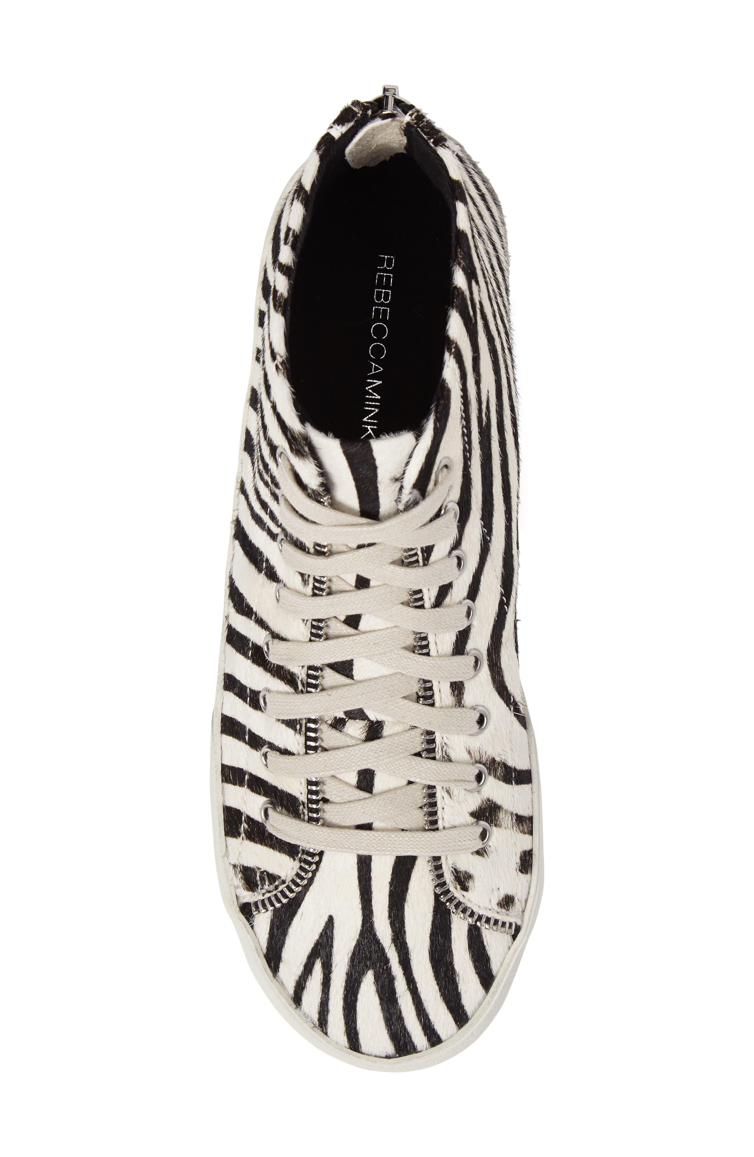 Zaina Too Genuine Calf Hair Sneaker,                             Alternate thumbnail 5, color,                             100