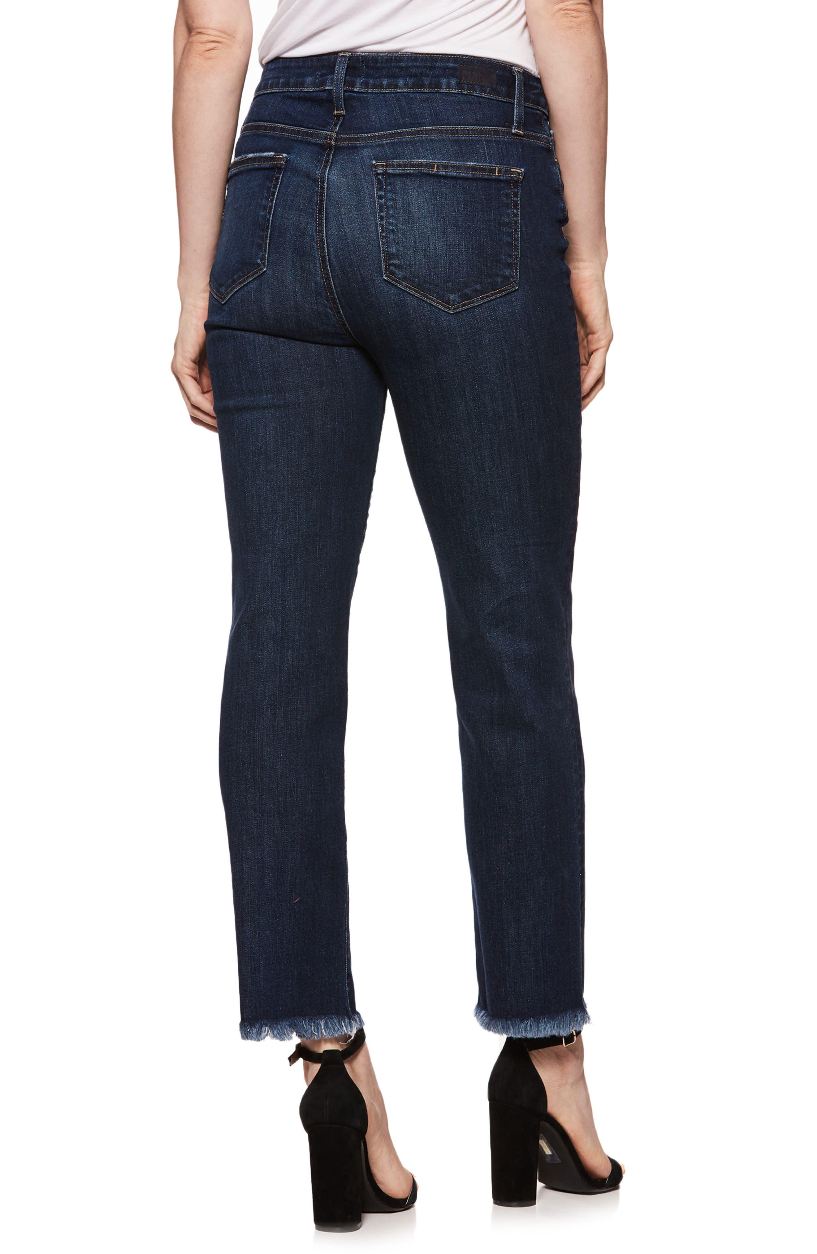 Hoxton Transcend Vintage High Waist Ankle Straight Leg Jeans,                             Alternate thumbnail 2, color,