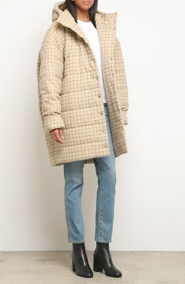Check Puffer Coat, video thumbnail