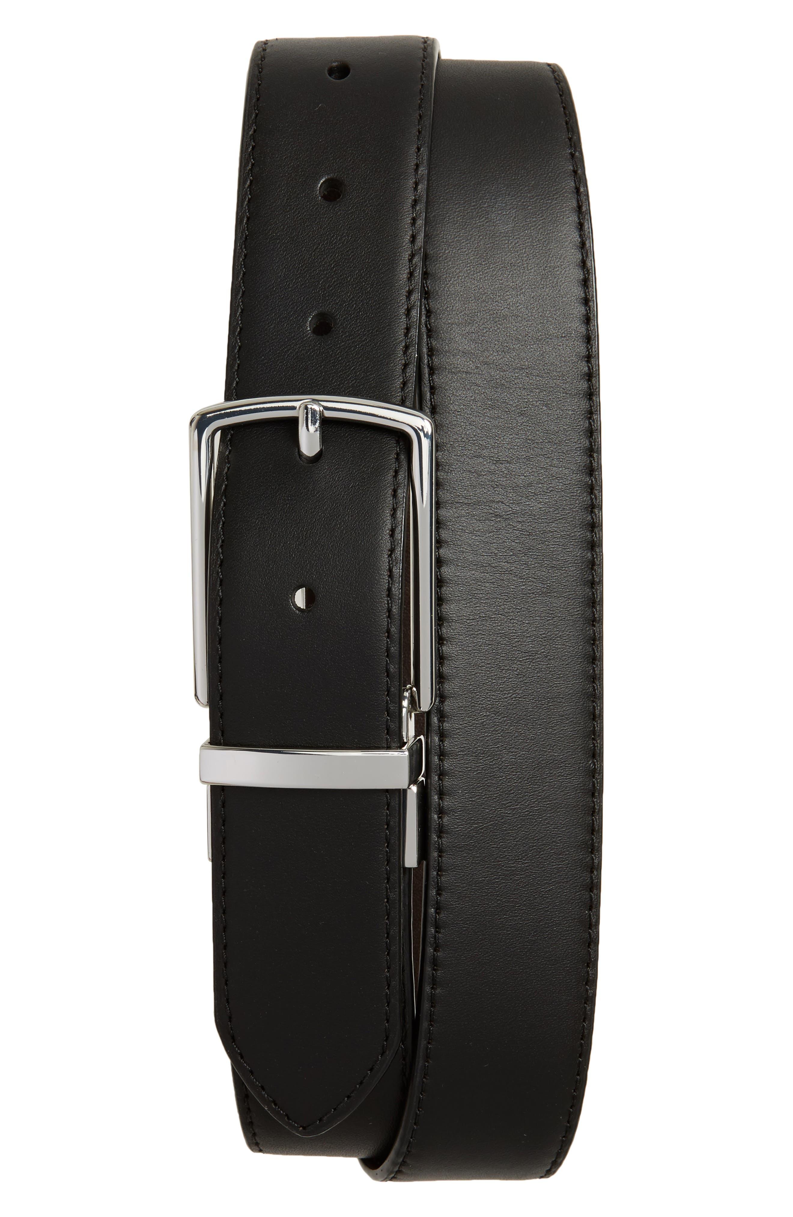 Preston Reversible Leather Belt,                             Main thumbnail 1, color,                             001