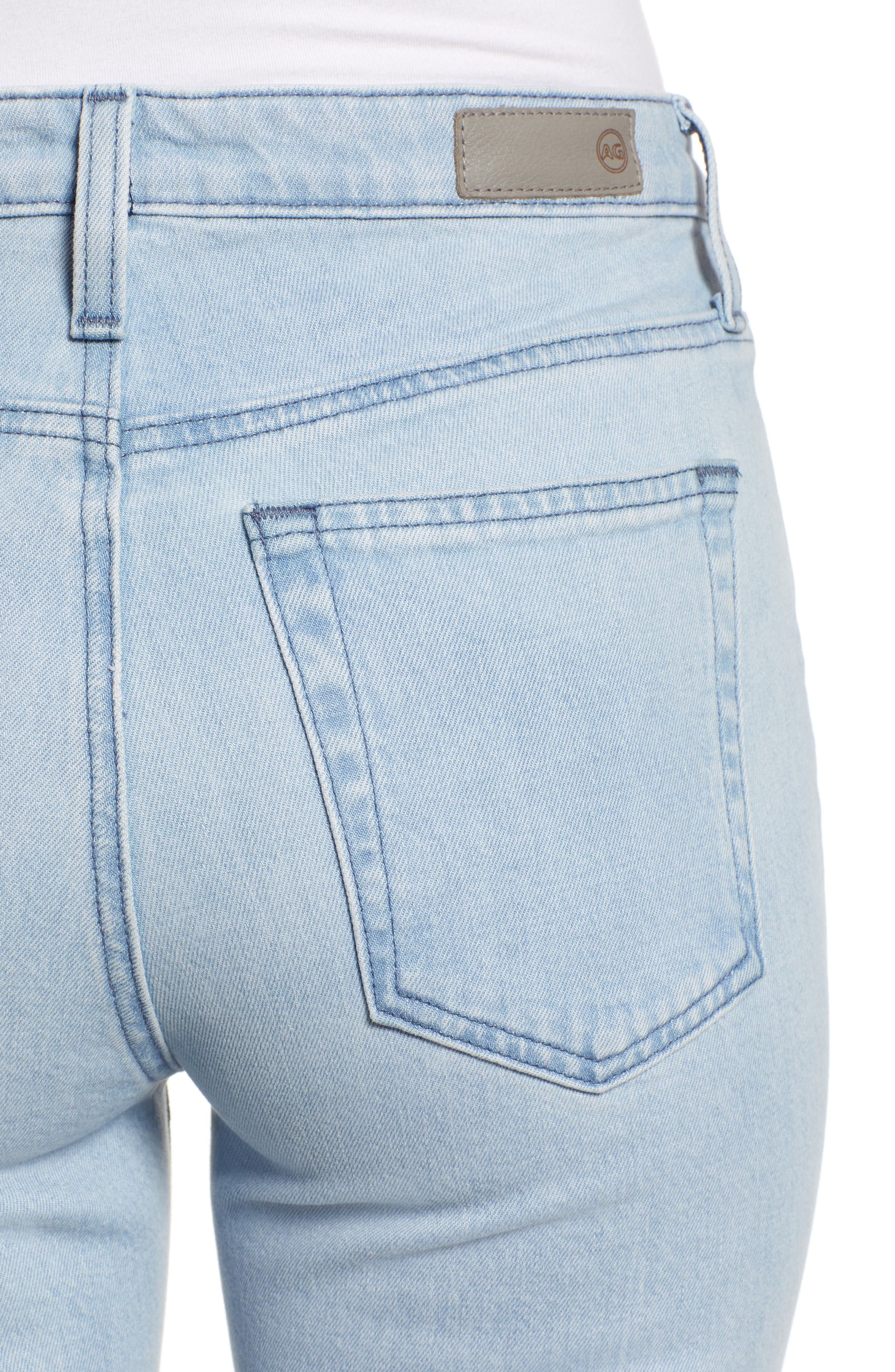 AG,                             The Isabelle High Waist Crop Straight Leg Jeans,                             Alternate thumbnail 4, color,                             26 YEARS SANGUINE