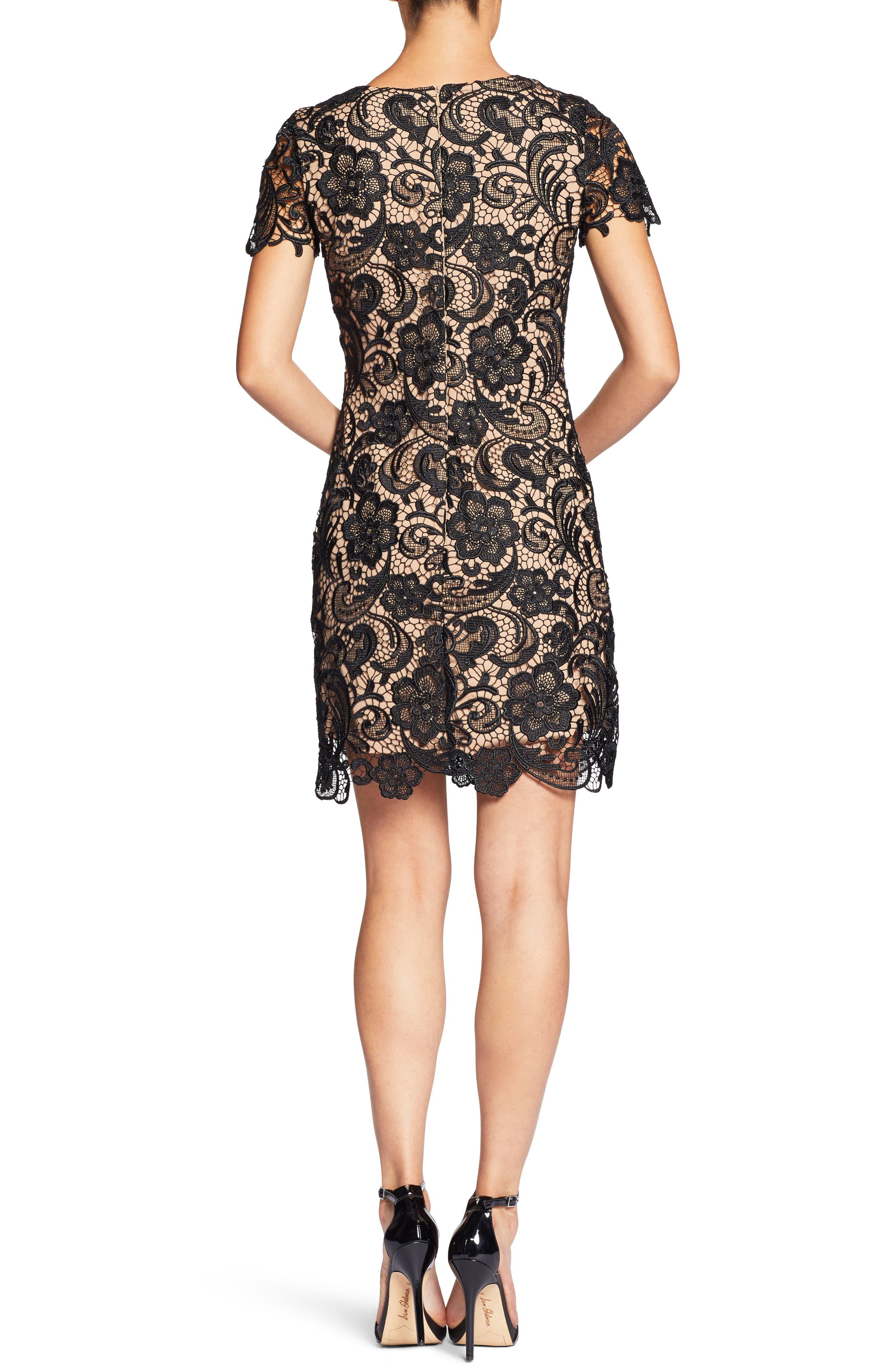 Anna Crochet Lace Sheath Dress,                             Alternate thumbnail 2, color,                             014