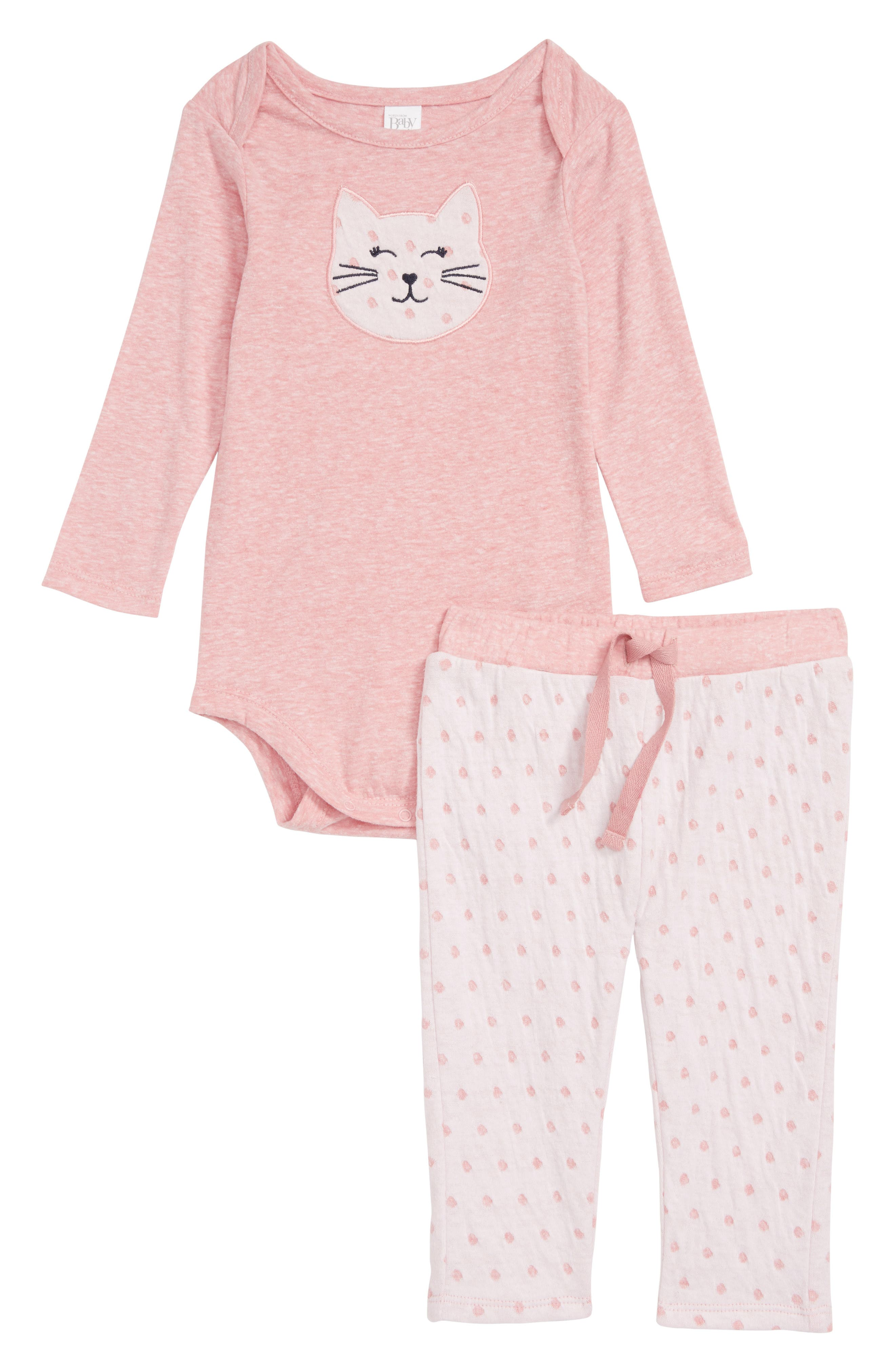 Cat Bodysuit & Pants Set,                             Main thumbnail 1, color,                             680