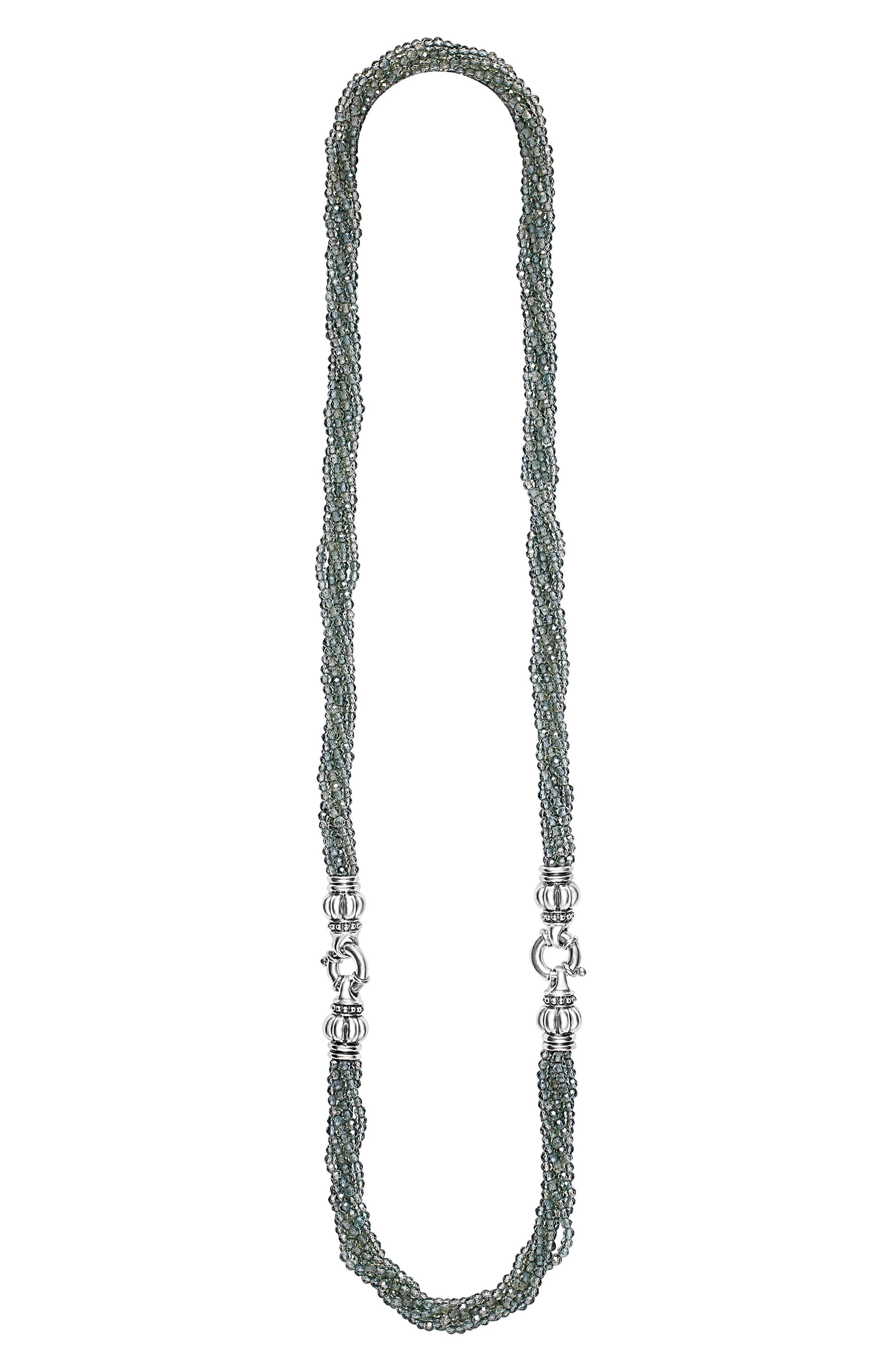 Caviar Icon Bead Convertible Bracelet & Necklace,                             Alternate thumbnail 2, color,                             040