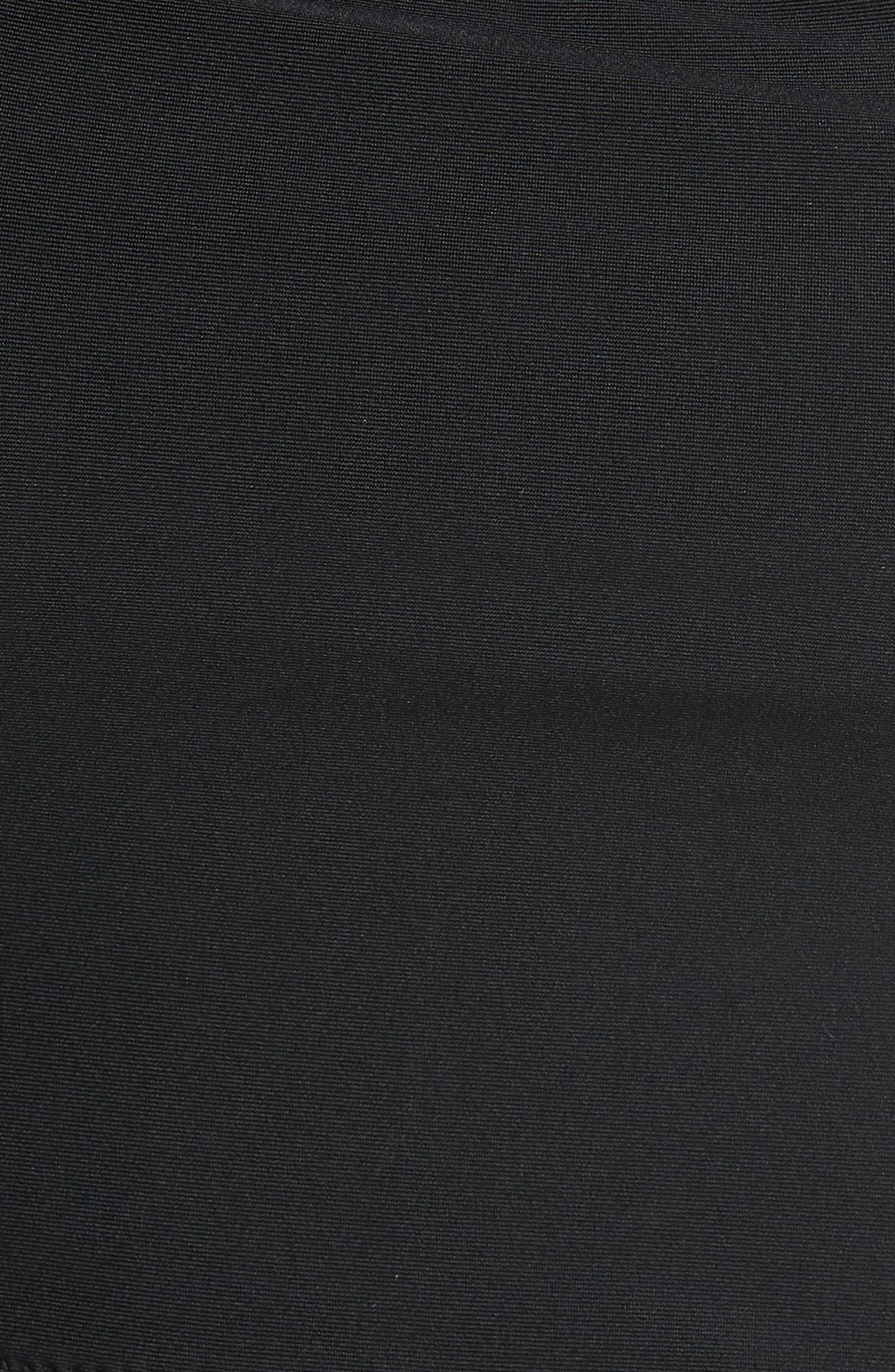 Marilyn Peplum Tankini Top,                             Alternate thumbnail 6, color,                             BLACK