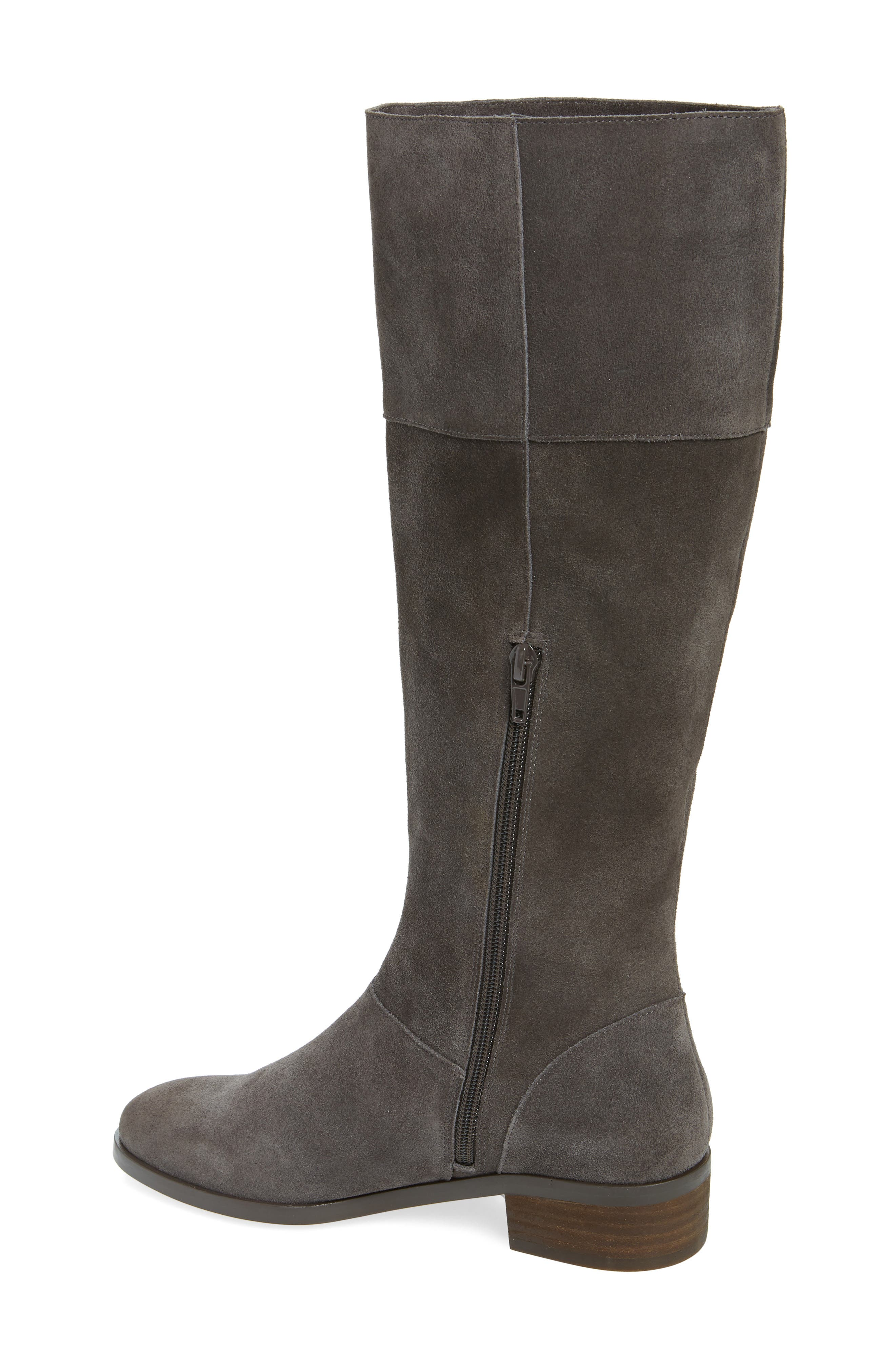 Carlie Knee High Boot,                             Alternate thumbnail 2, color,                             IRON SUEDE