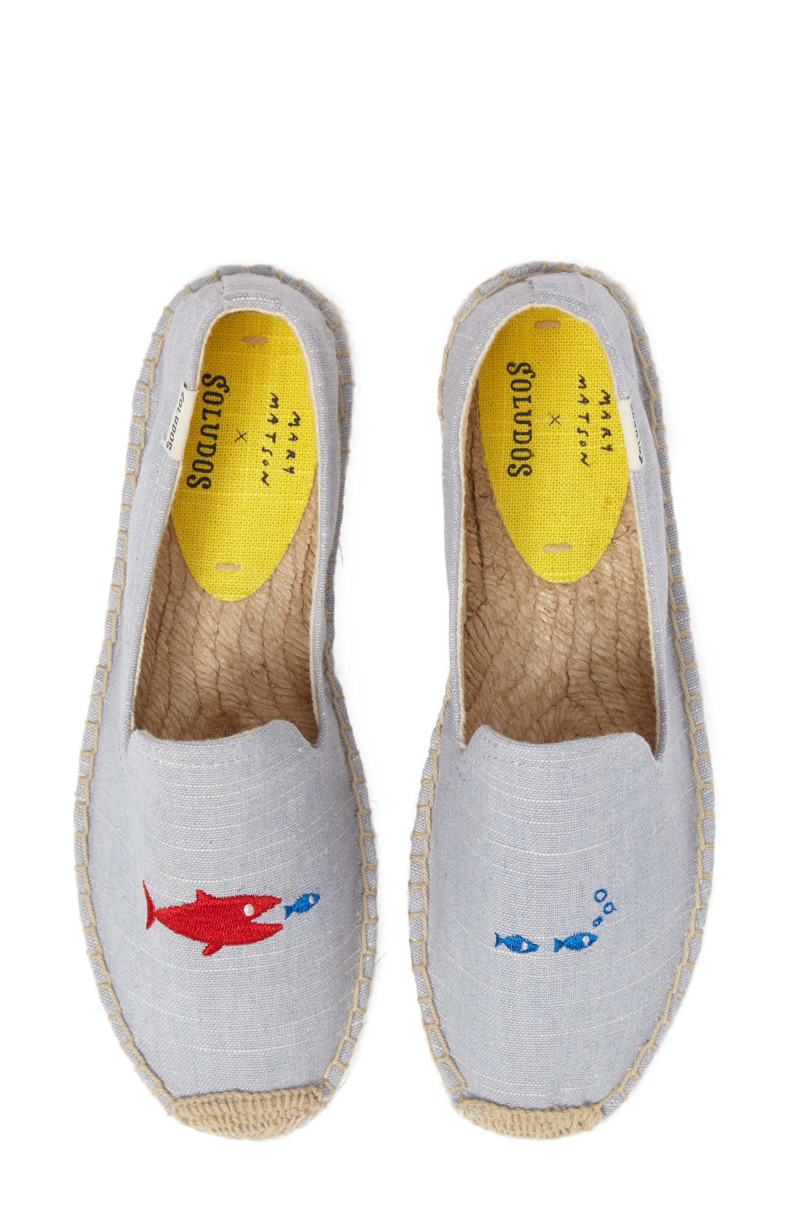 Embroidered Platform Espadrille,                             Main thumbnail 1, color,