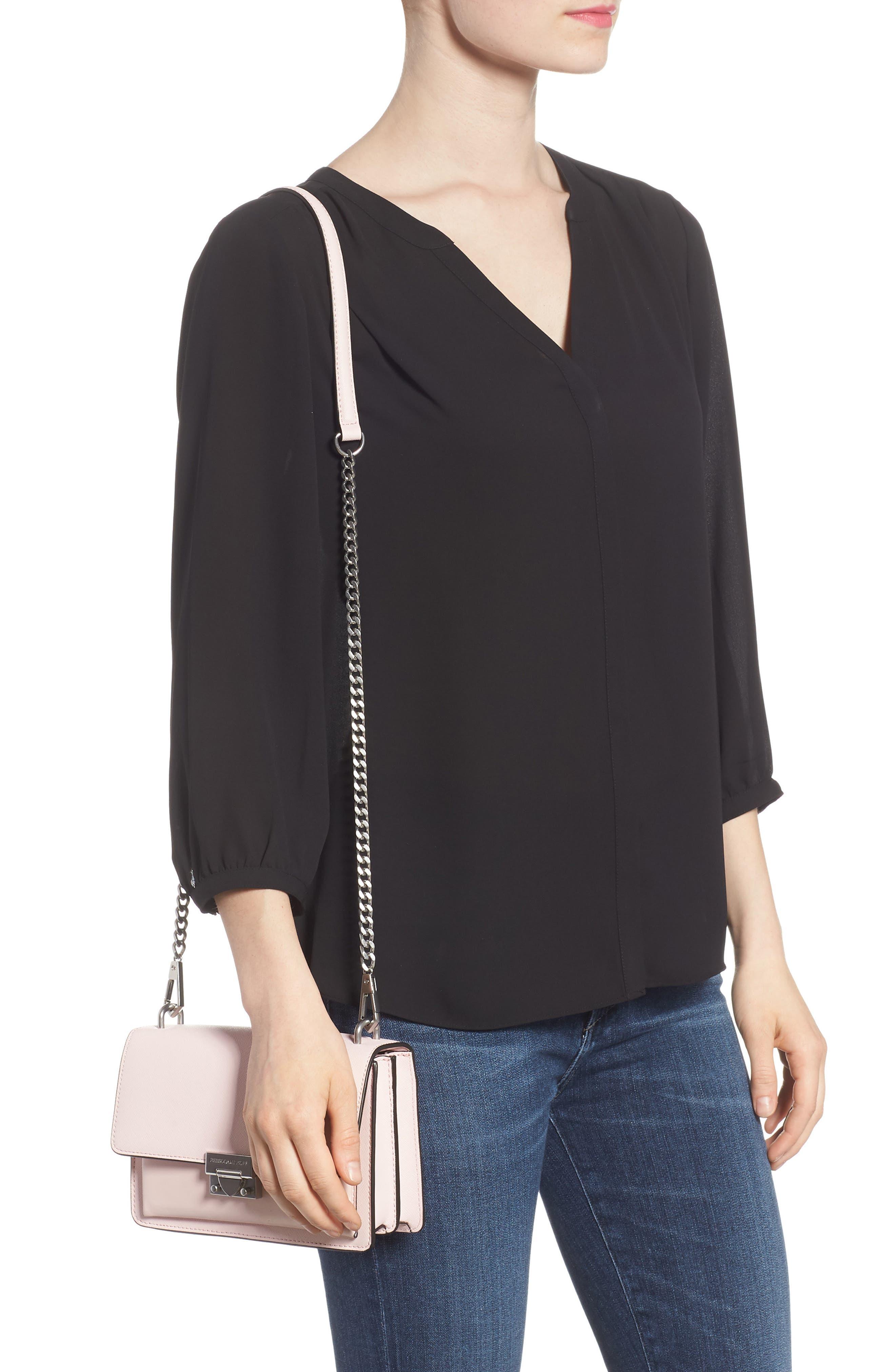 Medium Christy Leather Shoulder Bag,                             Alternate thumbnail 10, color,