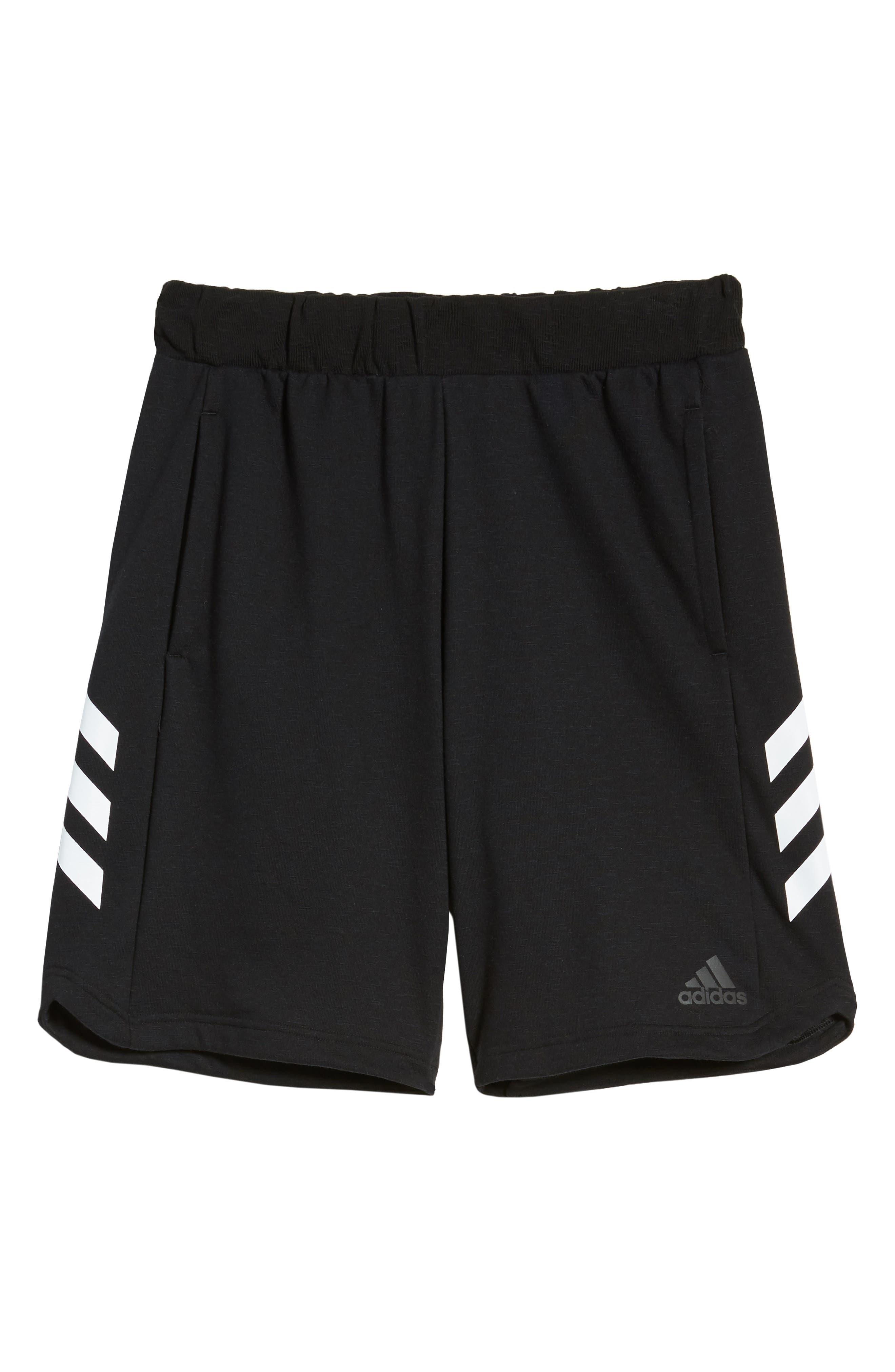 Pick Up Knit Shorts,                             Alternate thumbnail 3, color,                             BLACK