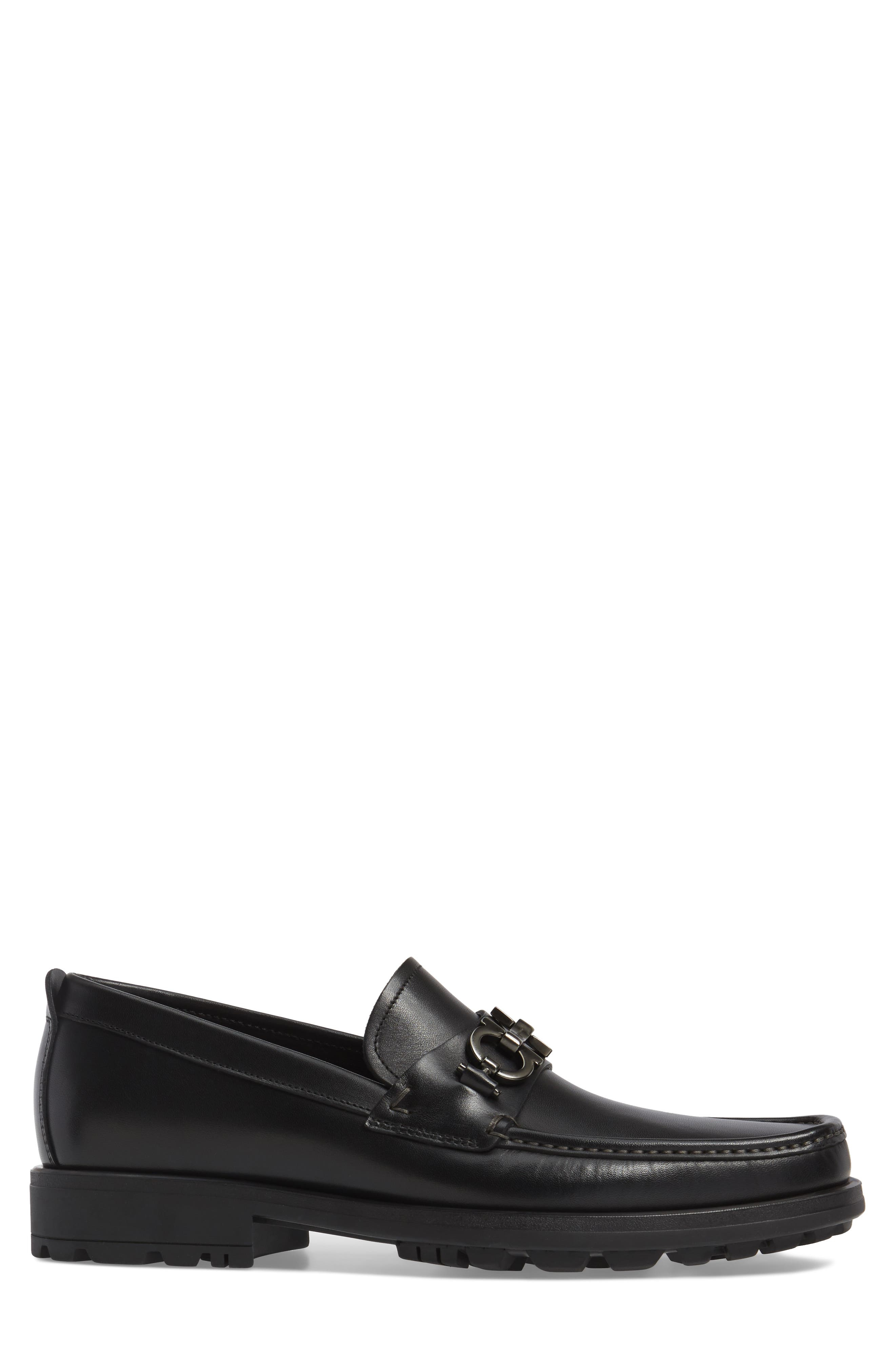 David Bit Loafer,                             Alternate thumbnail 3, color,                             BLACK LEATHER