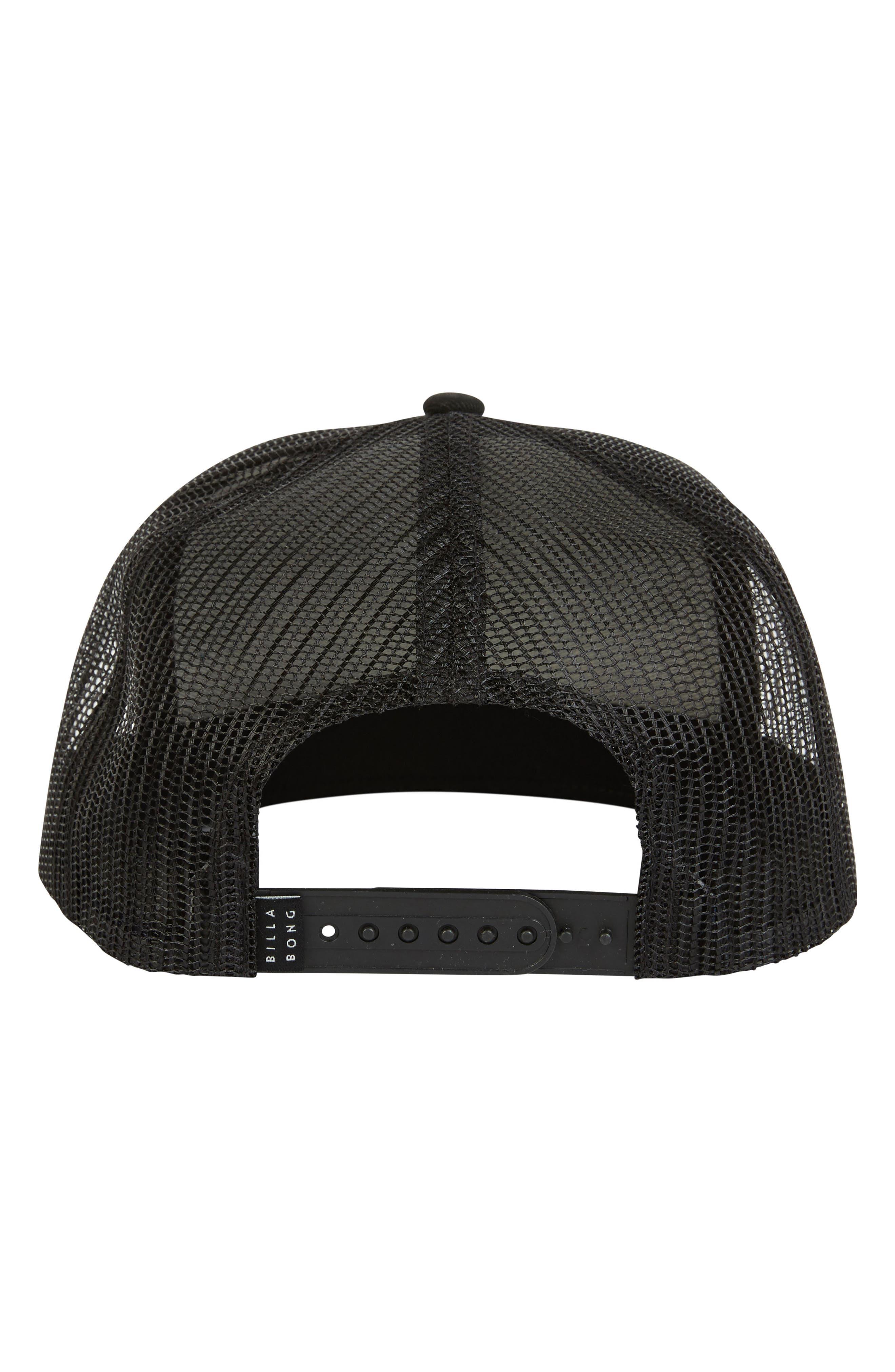 Stacked Trucker Hat,                             Alternate thumbnail 3, color,                             BLACK