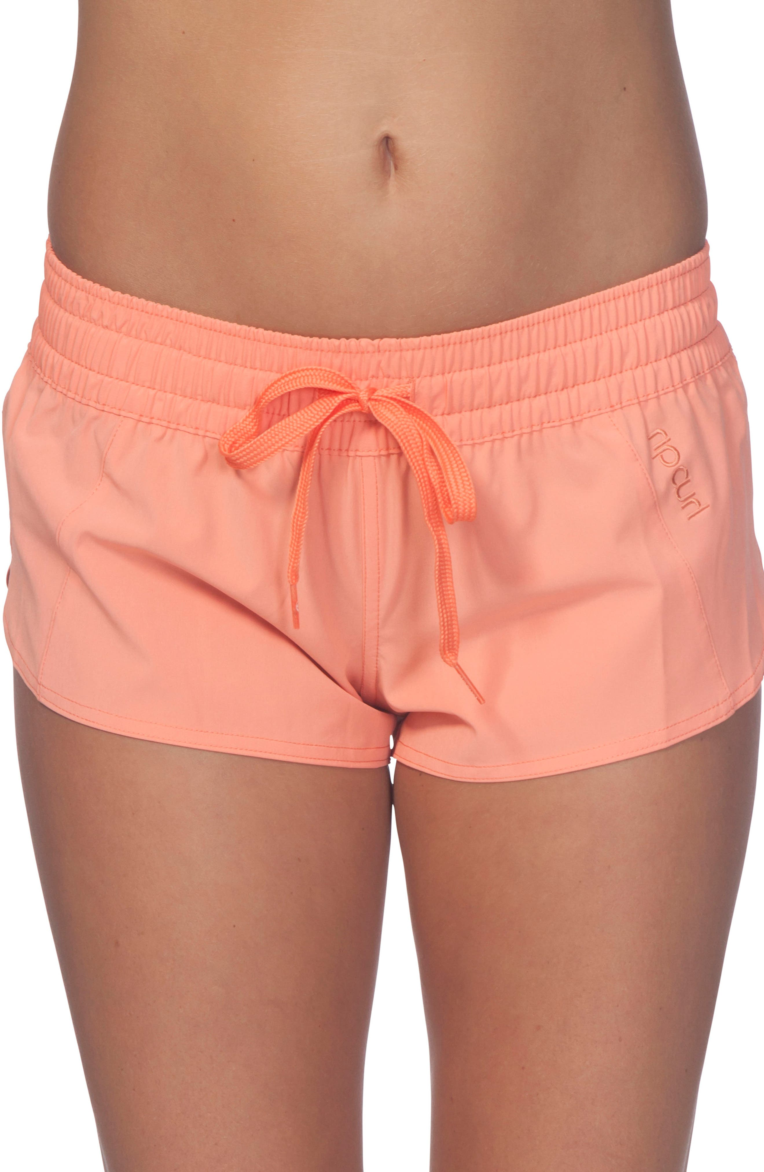Classic Surf 2 Boardie Shorts,                         Main,                         color, HOT CORAL