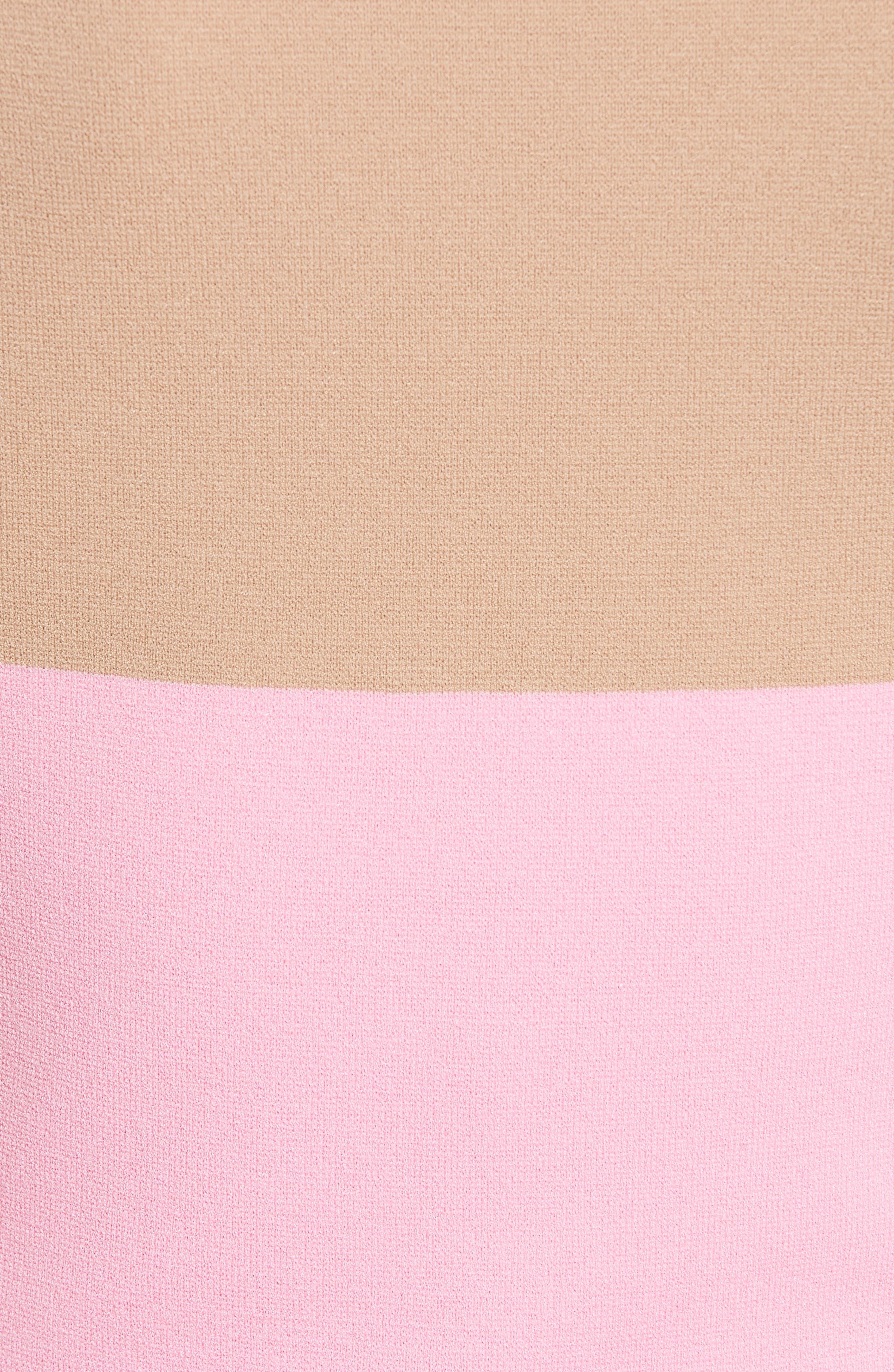 Colorblock Knit Dress,                             Alternate thumbnail 5, color,                             643