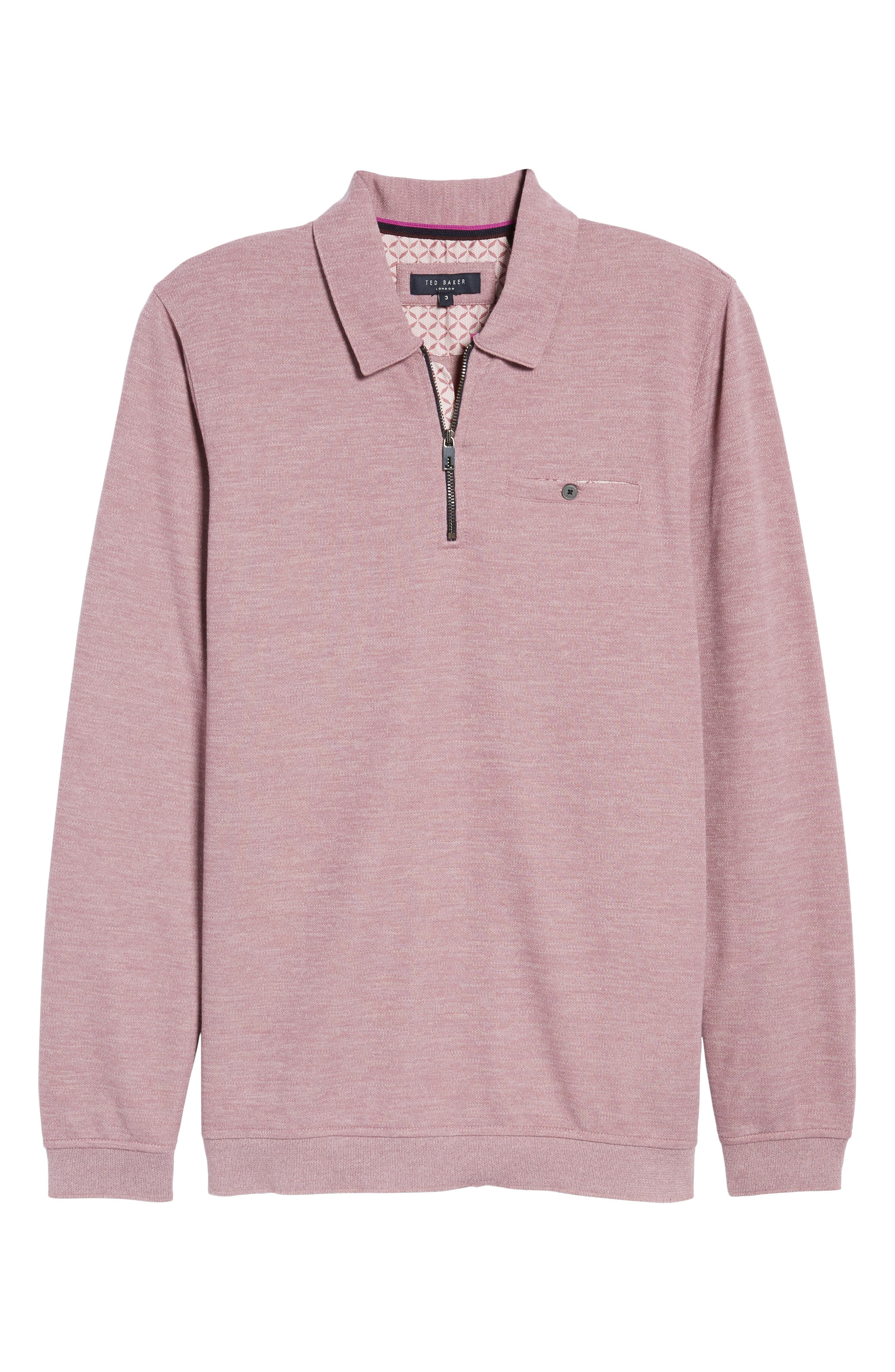 Modern Slim Fit Long Sleeve Jersey Polo,                             Alternate thumbnail 12, color,