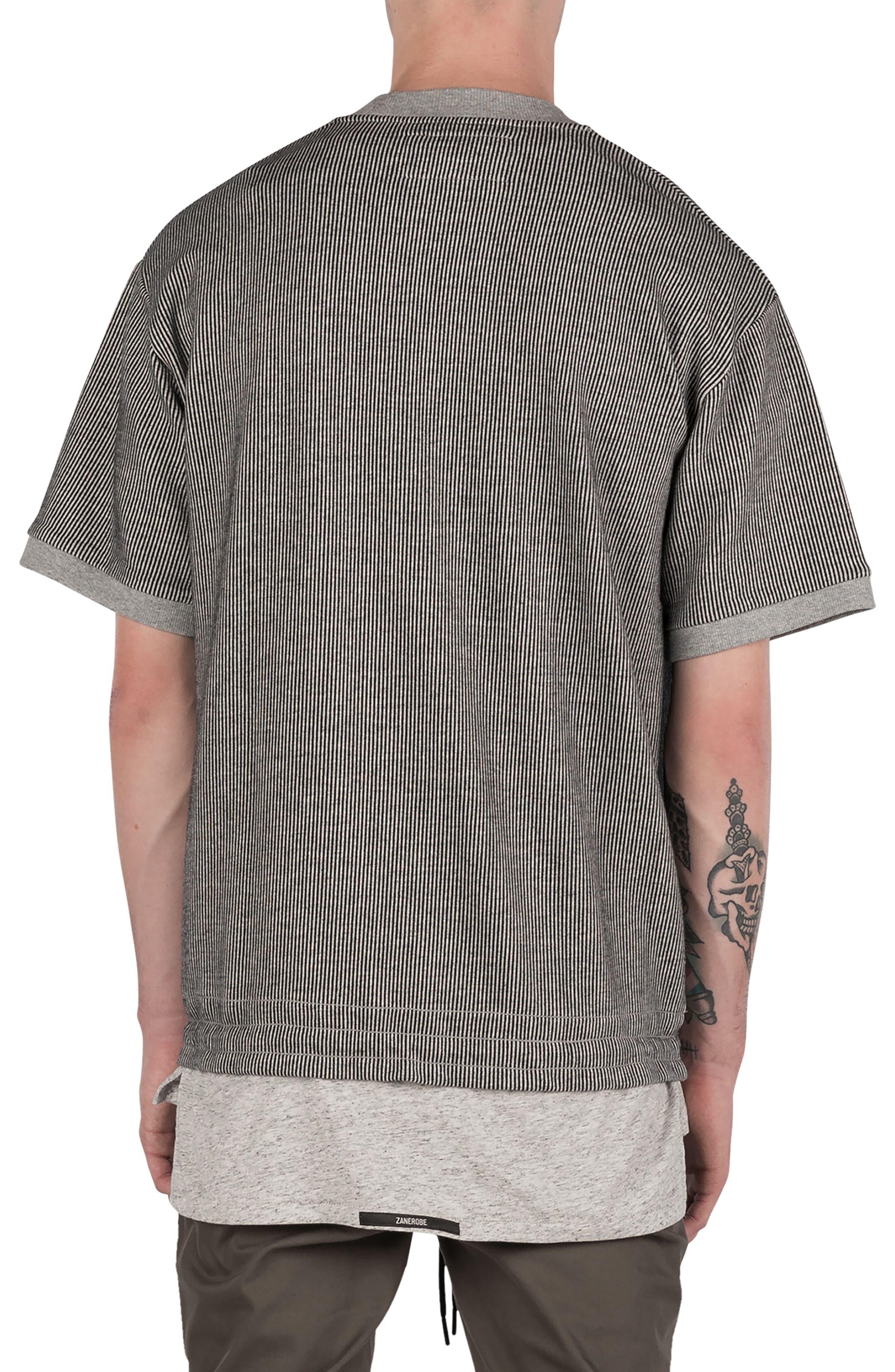Stripe Box Sweatshirt,                             Alternate thumbnail 2, color,                             050
