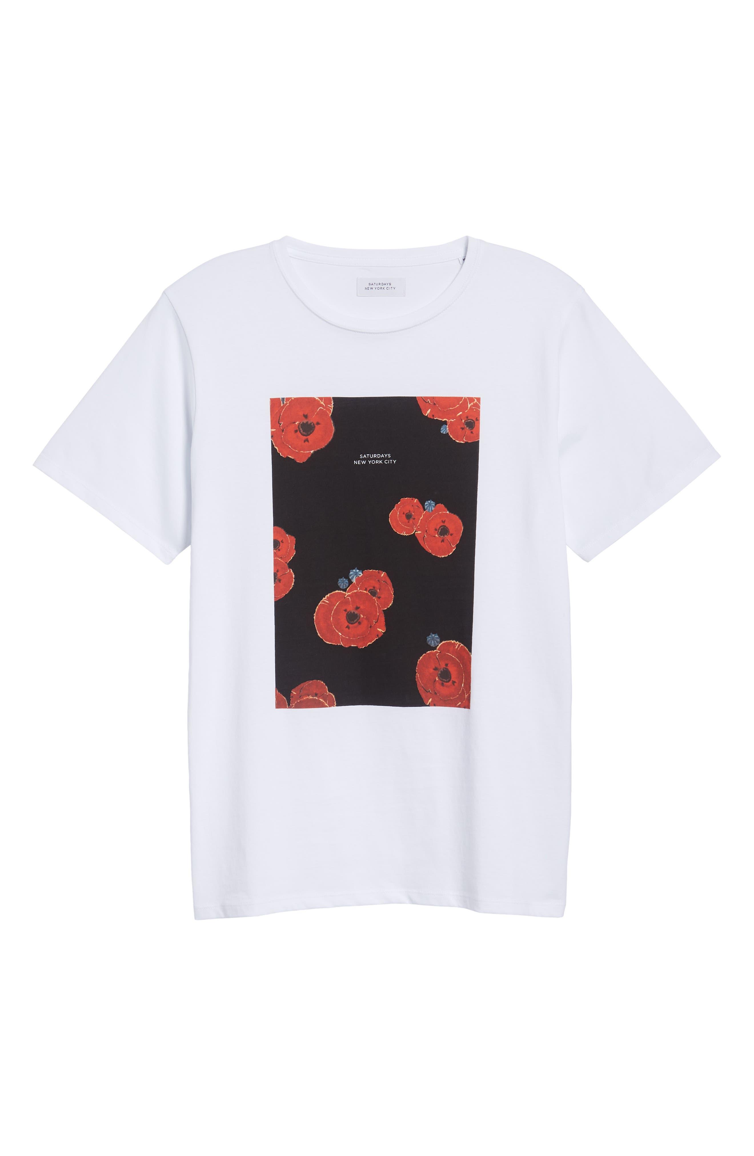 Floater Fill T-Shirt,                             Alternate thumbnail 6, color,                             WHITE