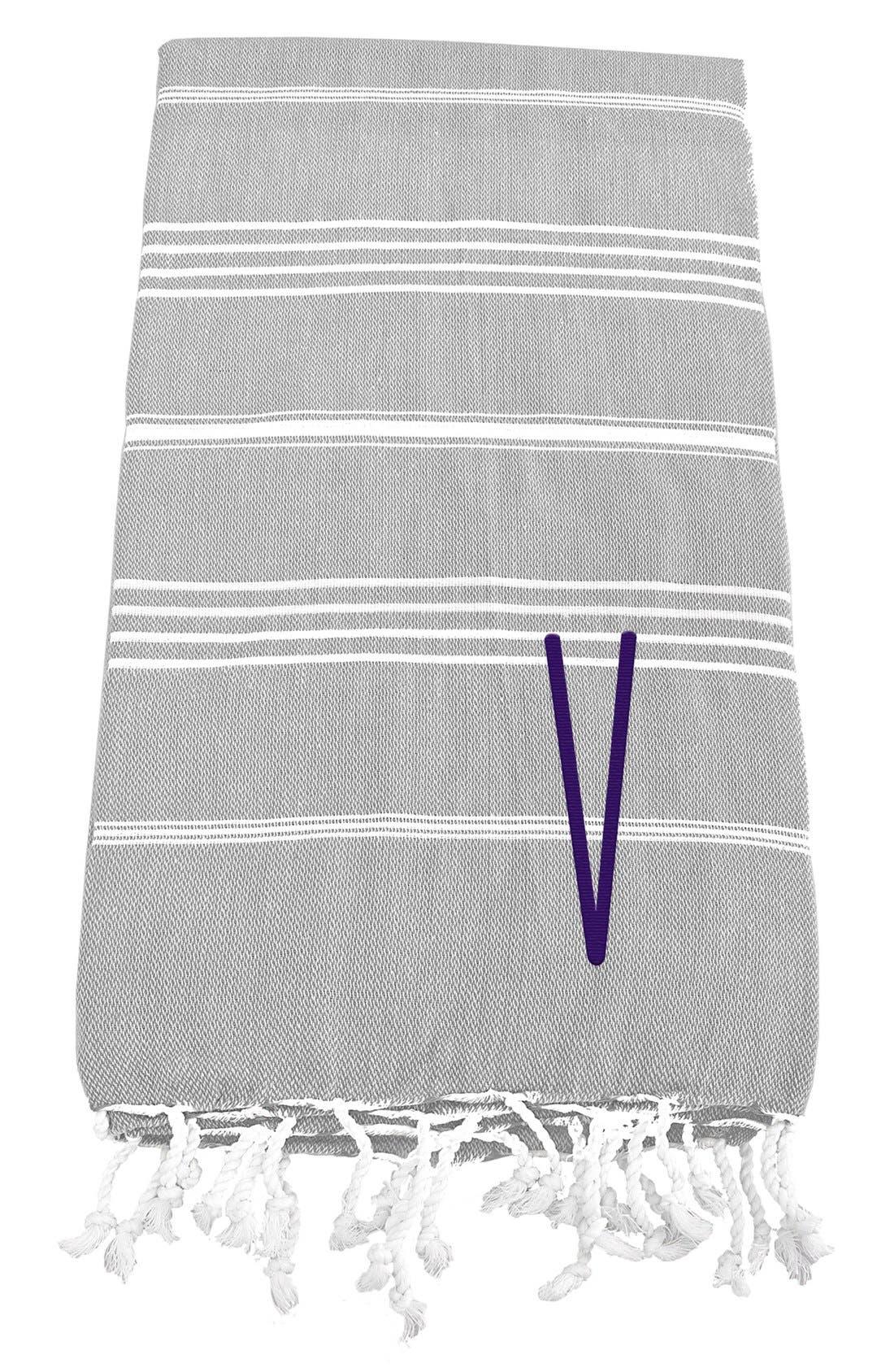 Monogram Turkish Cotton Towel,                             Main thumbnail 24, color,