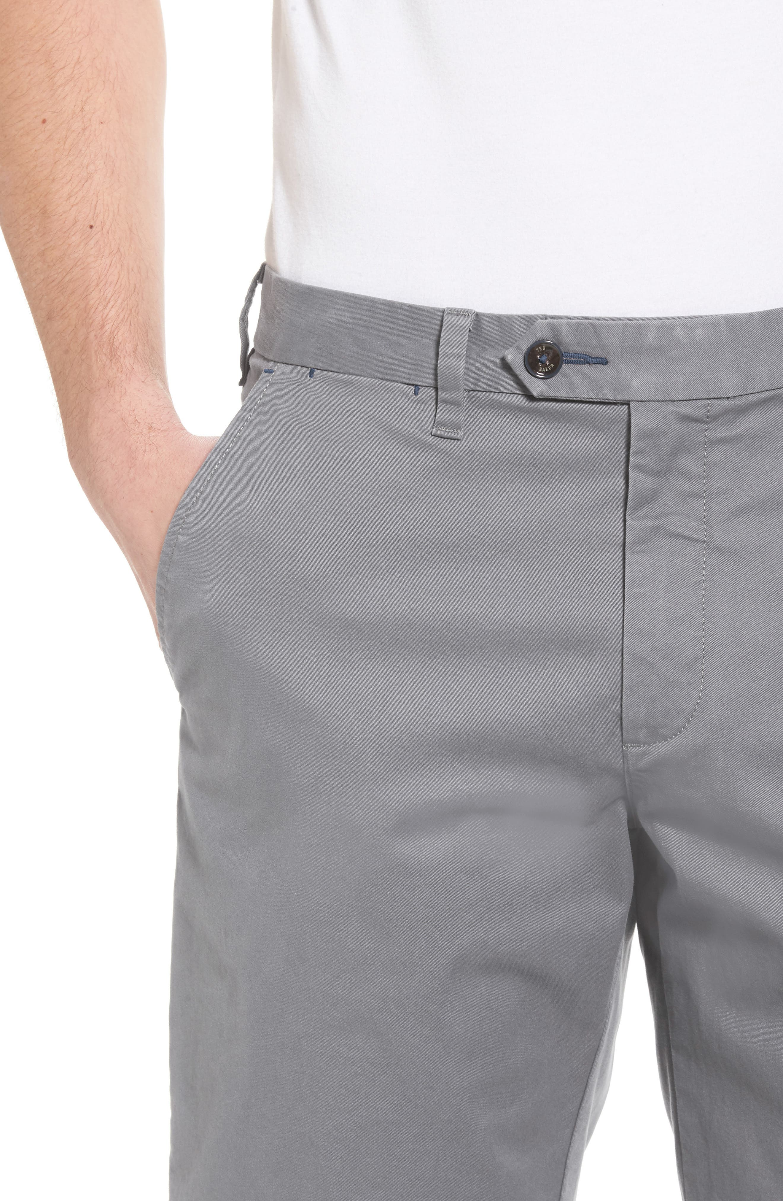 Proshor Slim Fit Chino Shorts,                             Alternate thumbnail 4, color,                             050
