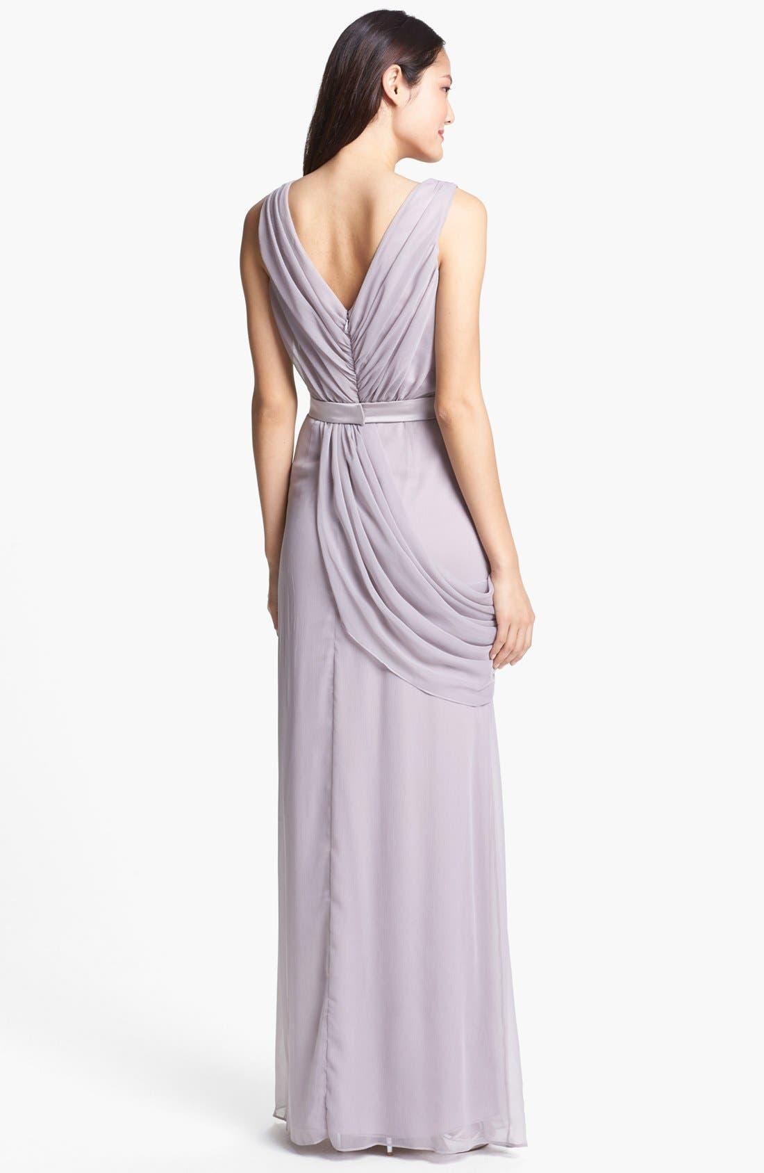 Draped Chiffon Dress,                             Alternate thumbnail 2, color,                             251