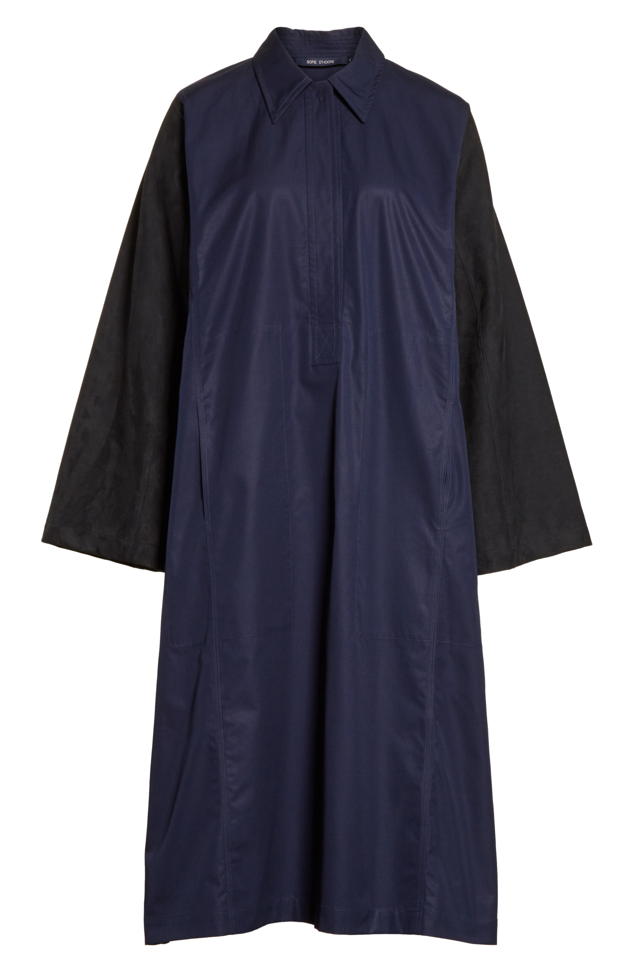 Mixed Media Shirt Dress,                             Alternate thumbnail 6, color,                             415