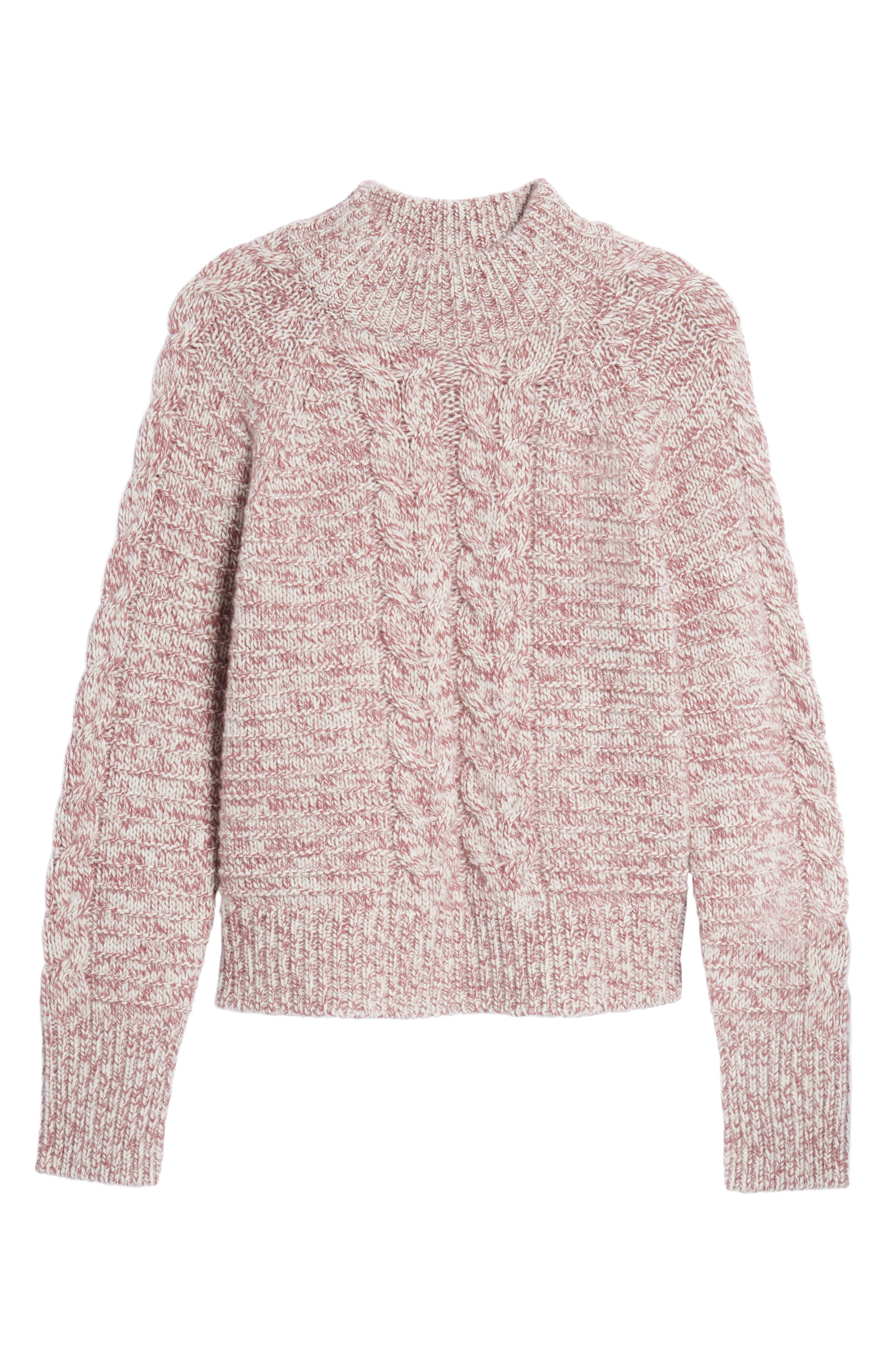 Cashmere Cable Knit Sweater,                             Alternate thumbnail 6, color,                             938