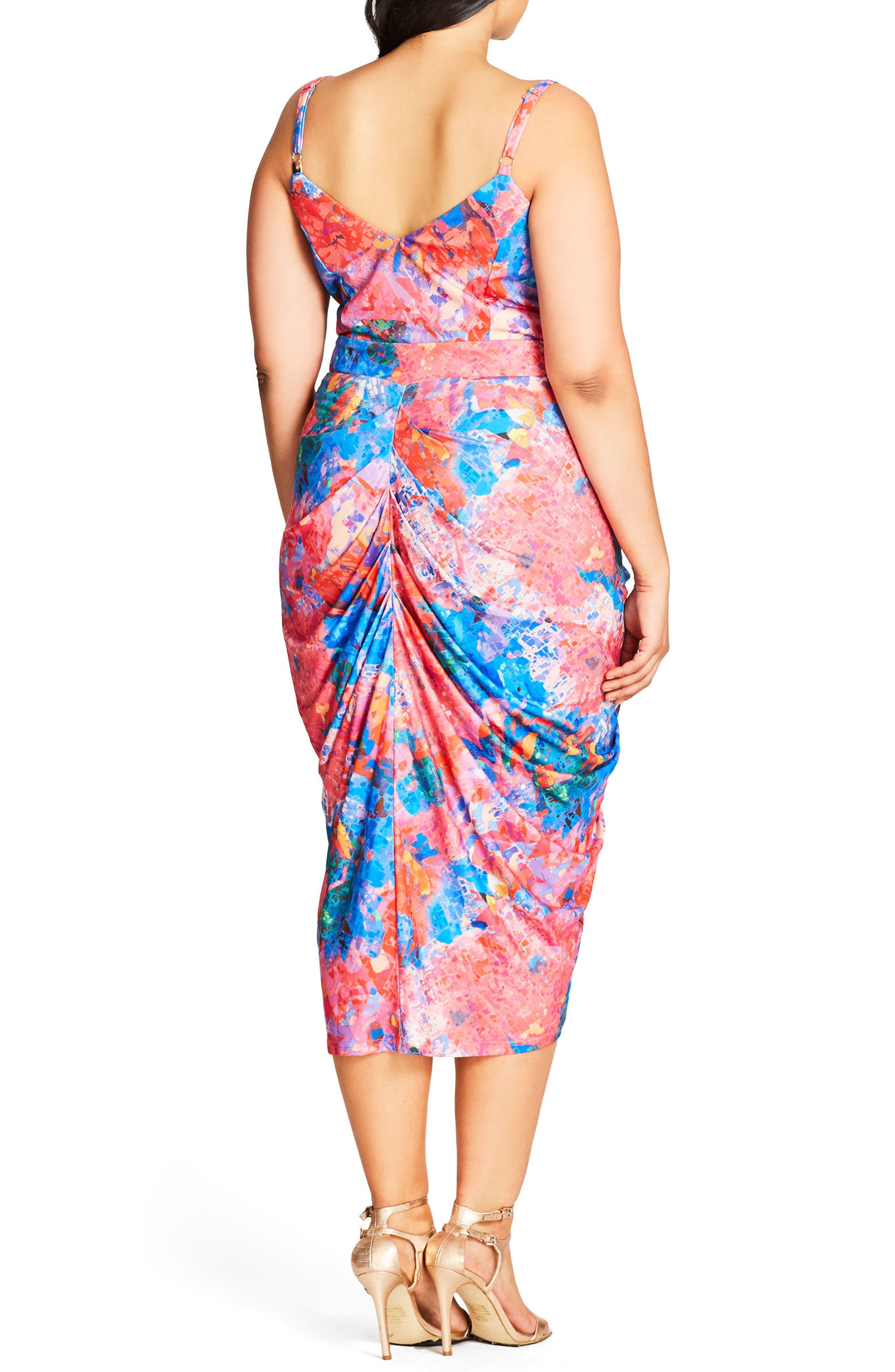 Zip Front Body-Con Dress,                             Alternate thumbnail 2, color,                             001