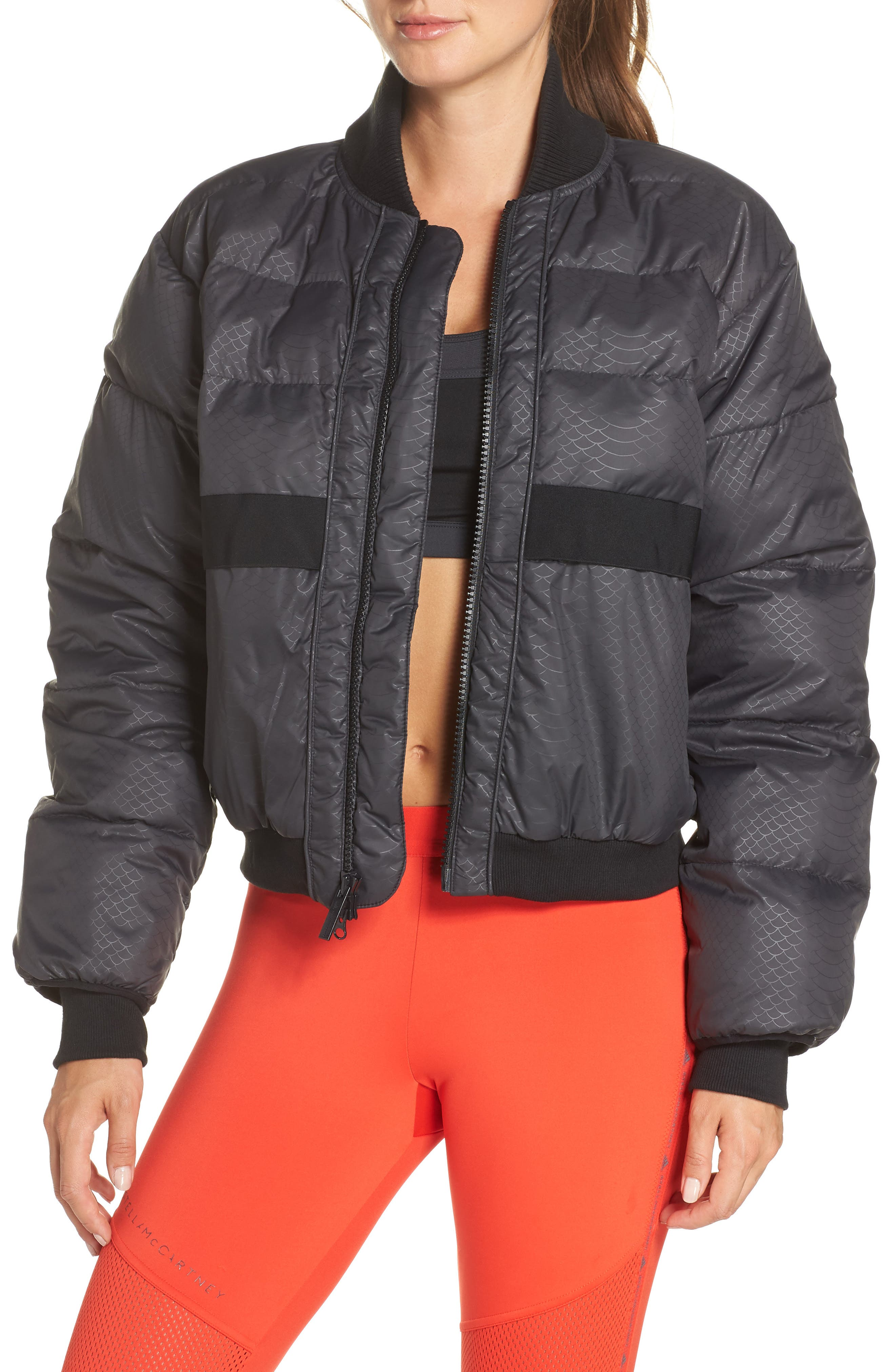 Crop Puffer Jacket,                         Main,                         color, 001
