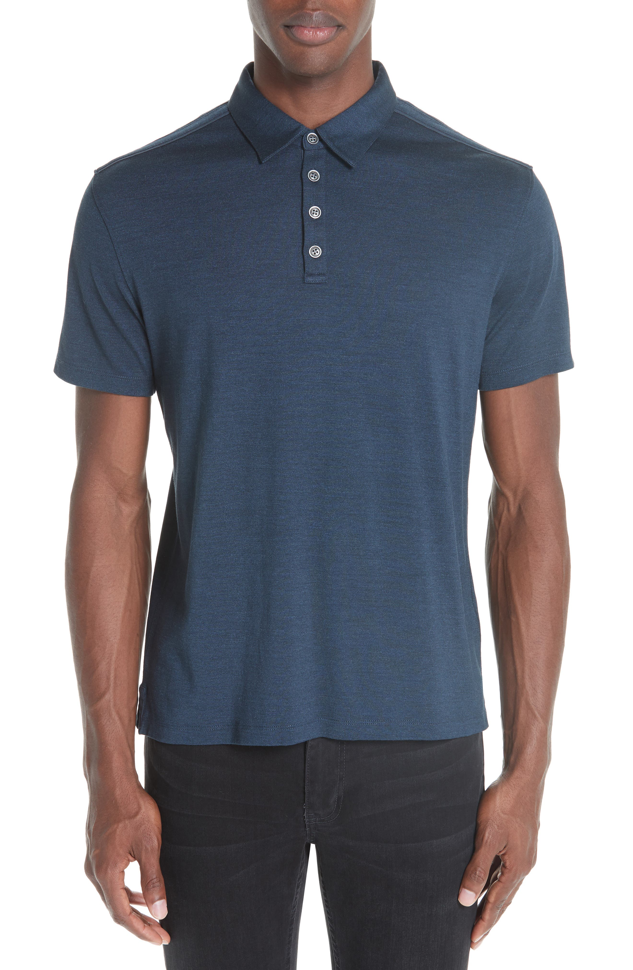 Hampton Silk & Cotton Polo,                         Main,                         color, 411