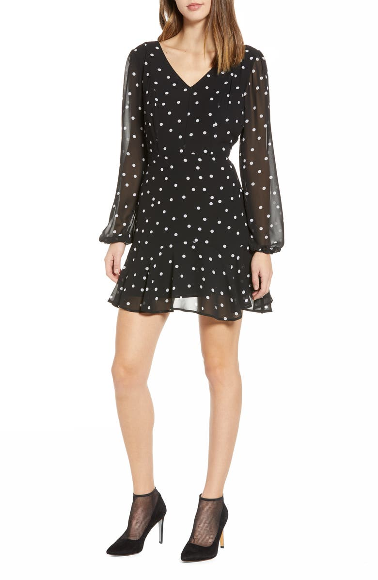 Polka Dot Deep-V Minidress