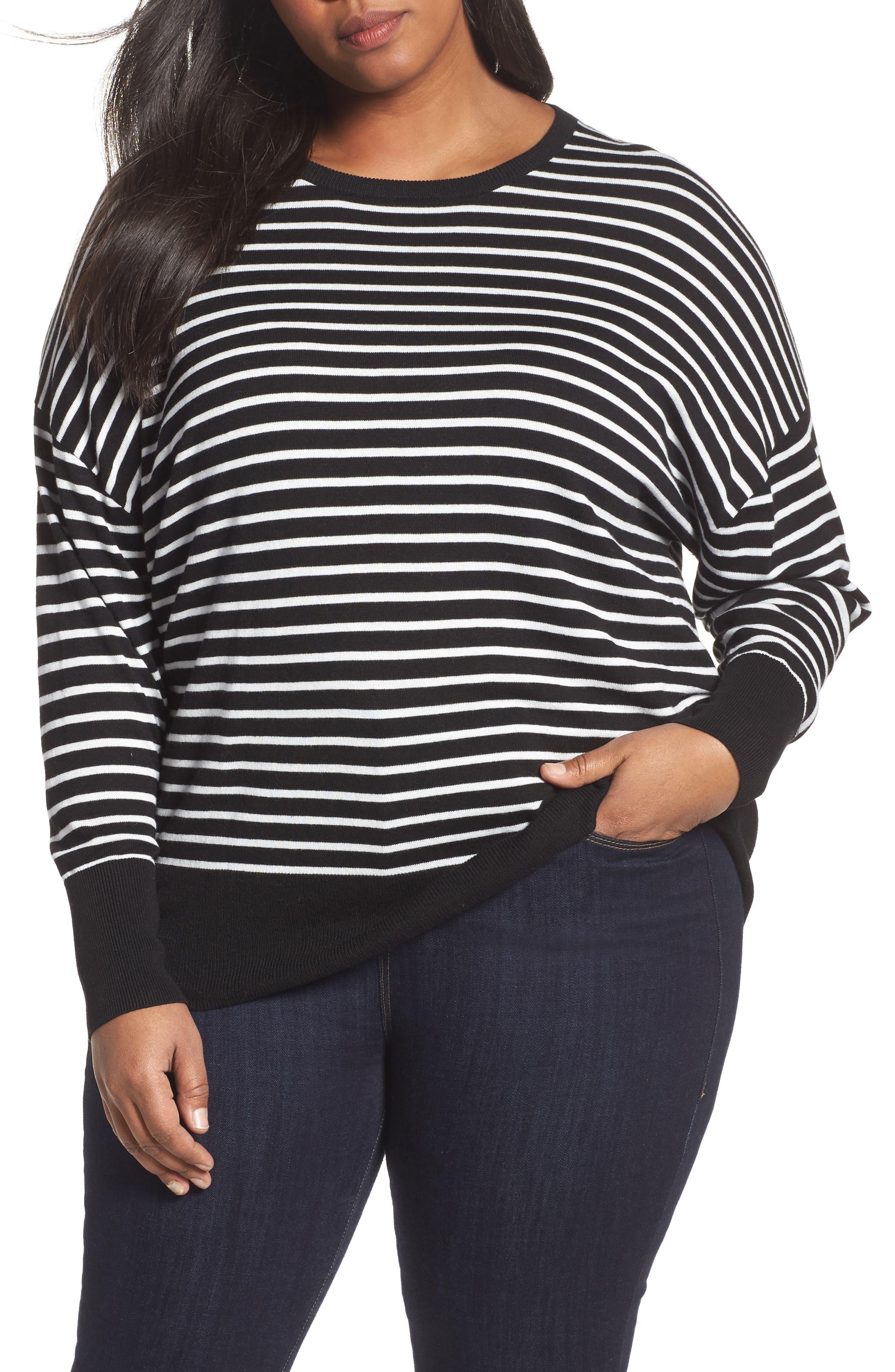 Dolman Sleeve Crewneck Sweater,                         Main,                         color, 002