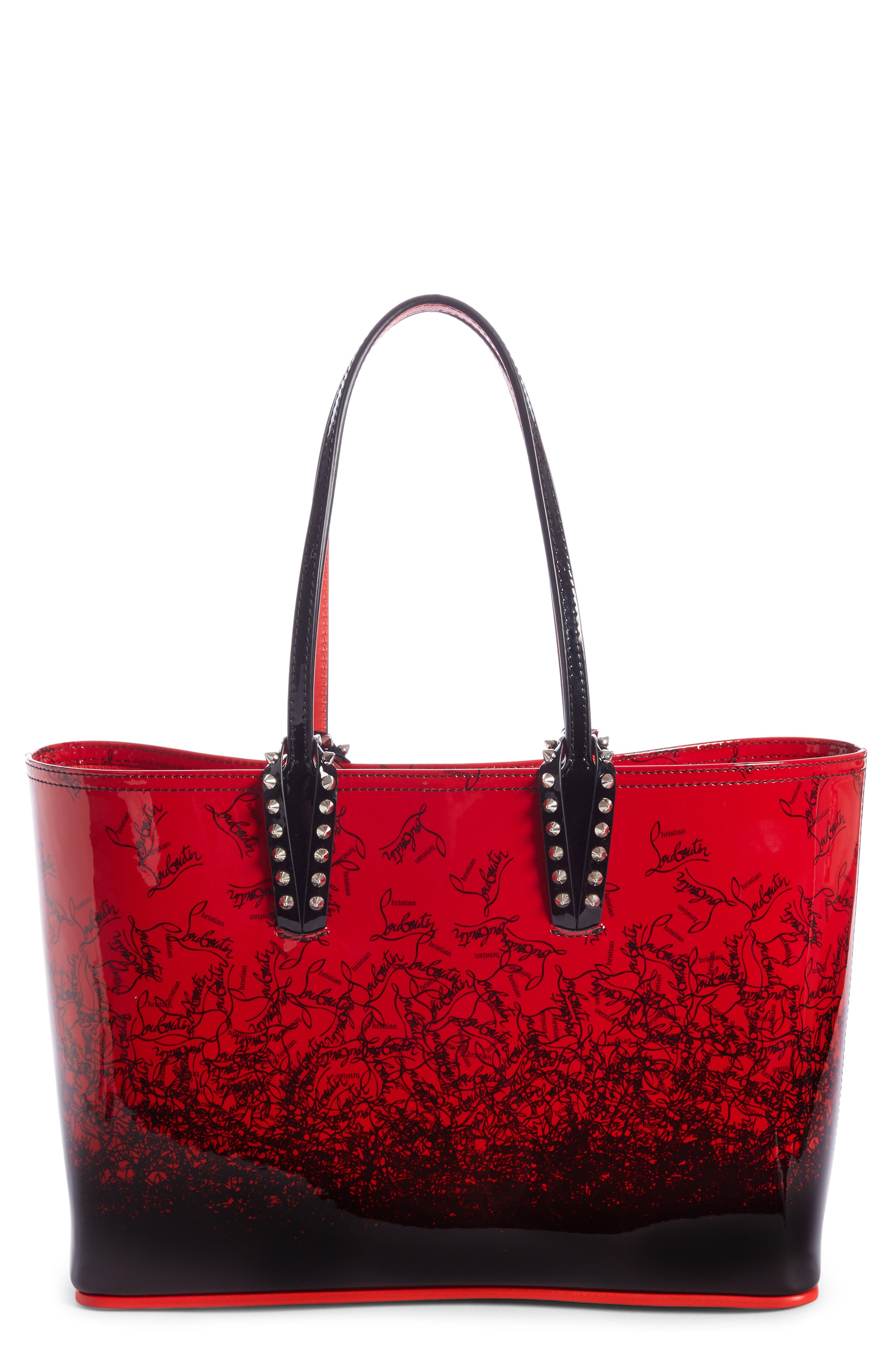 CHRISTIAN LOUBOUTIN,                             Cabata Dégradé Patent Leather Tote,                             Main thumbnail 1, color,                             600