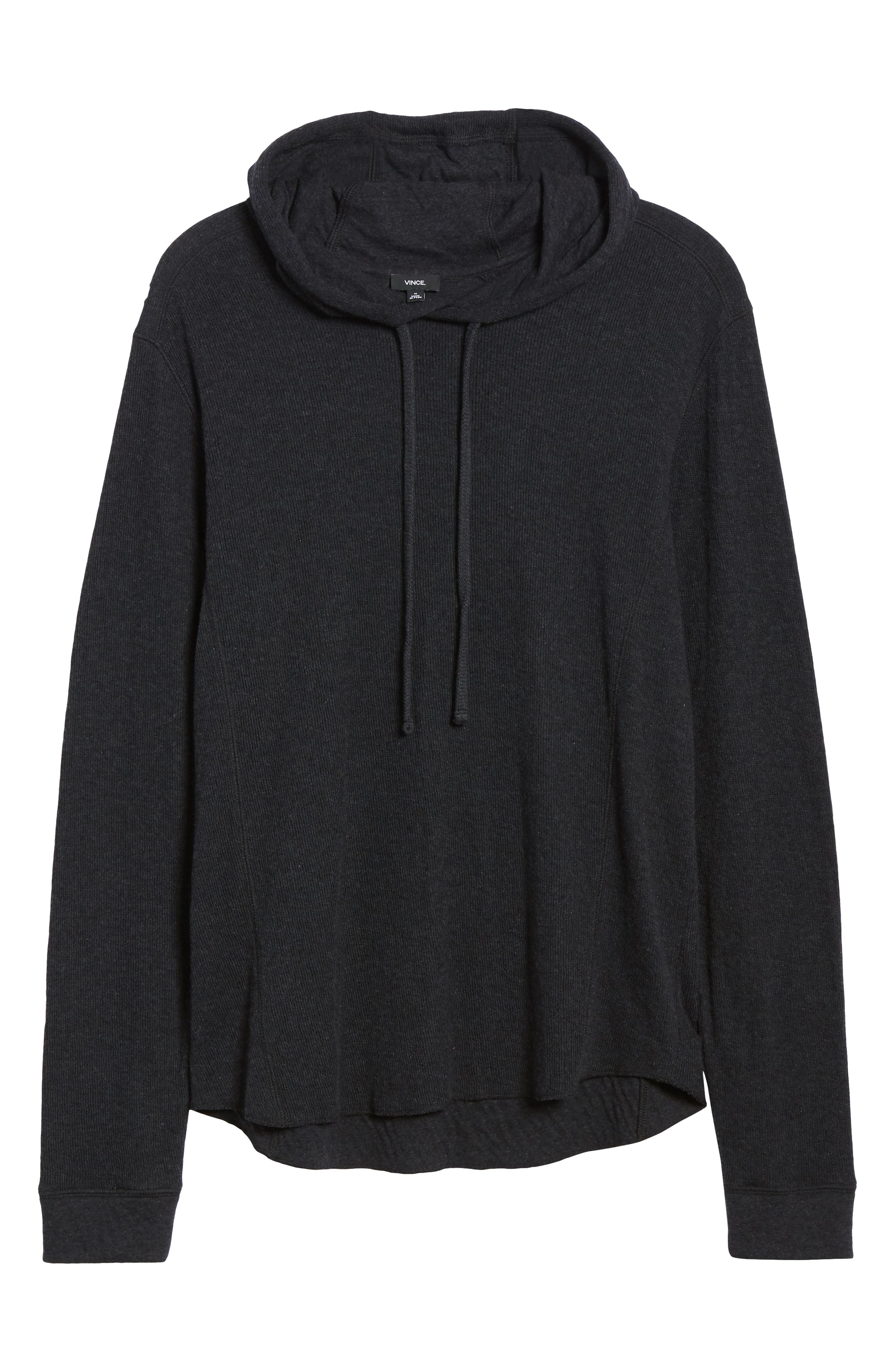 Double Knit Hoodie,                             Alternate thumbnail 6, color,                             H MANHATTAN NAVY